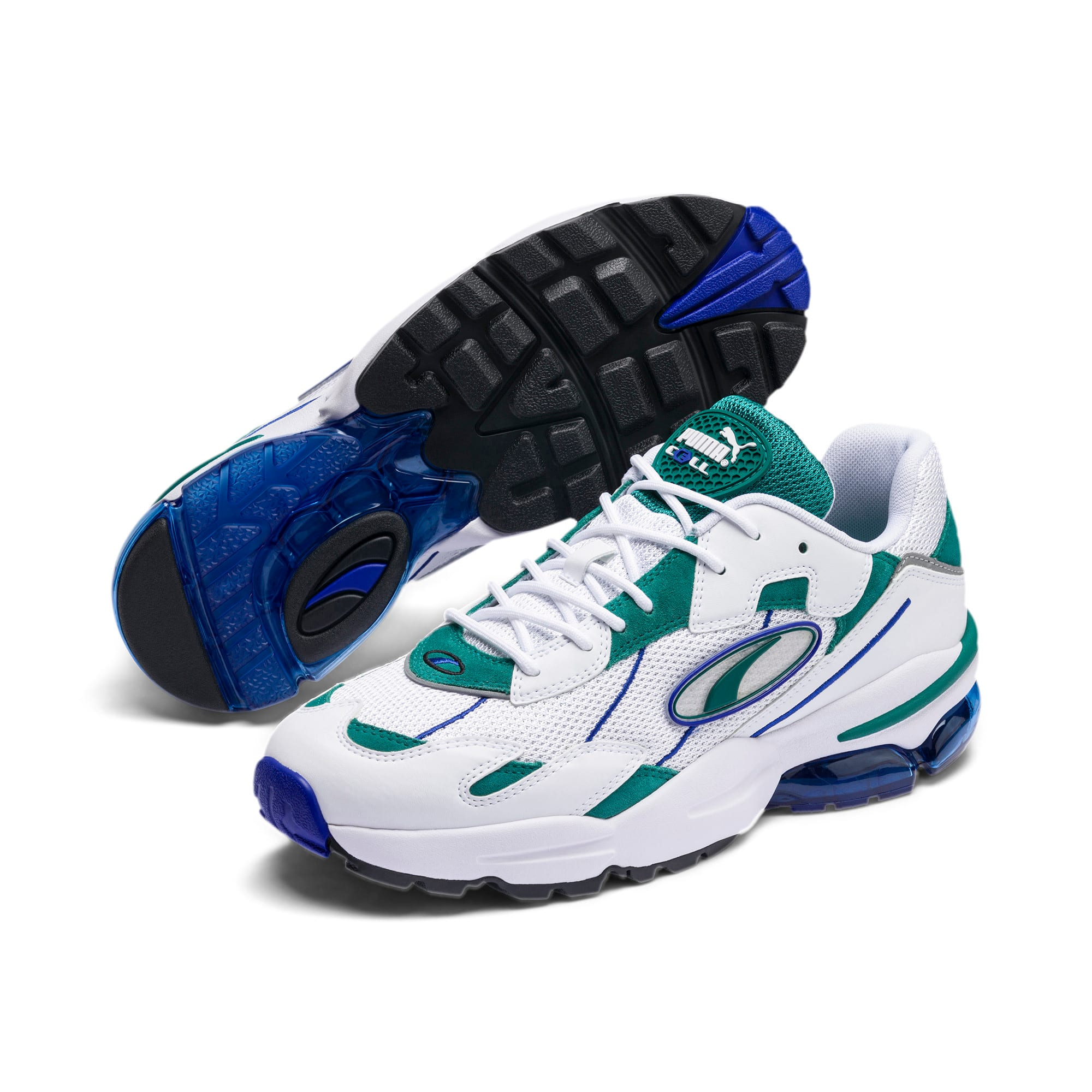 Thumbnail 3 of CELL Ultra OG Pack Sneakers, Puma White-Teal Green, medium