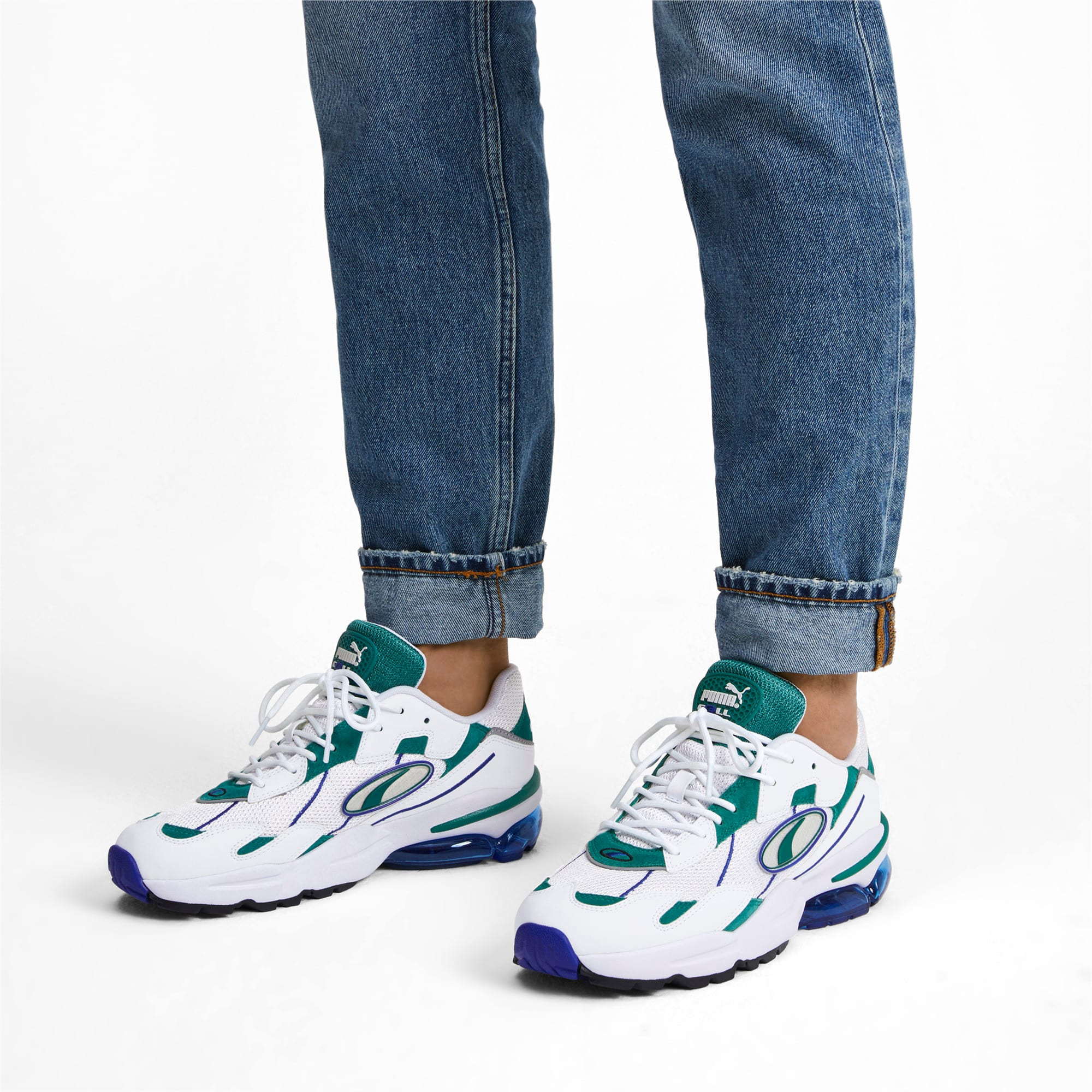 Thumbnail 2 of CELL Ultra OG Pack Sneakers, Puma White-Teal Green, medium