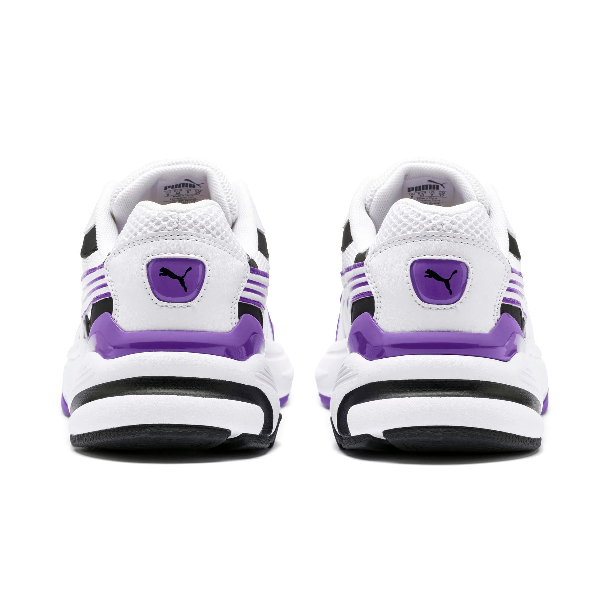 Thumbnail 5 of Axis SUPR Trainers, White-Black-Purple Glimmer, medium-IND
