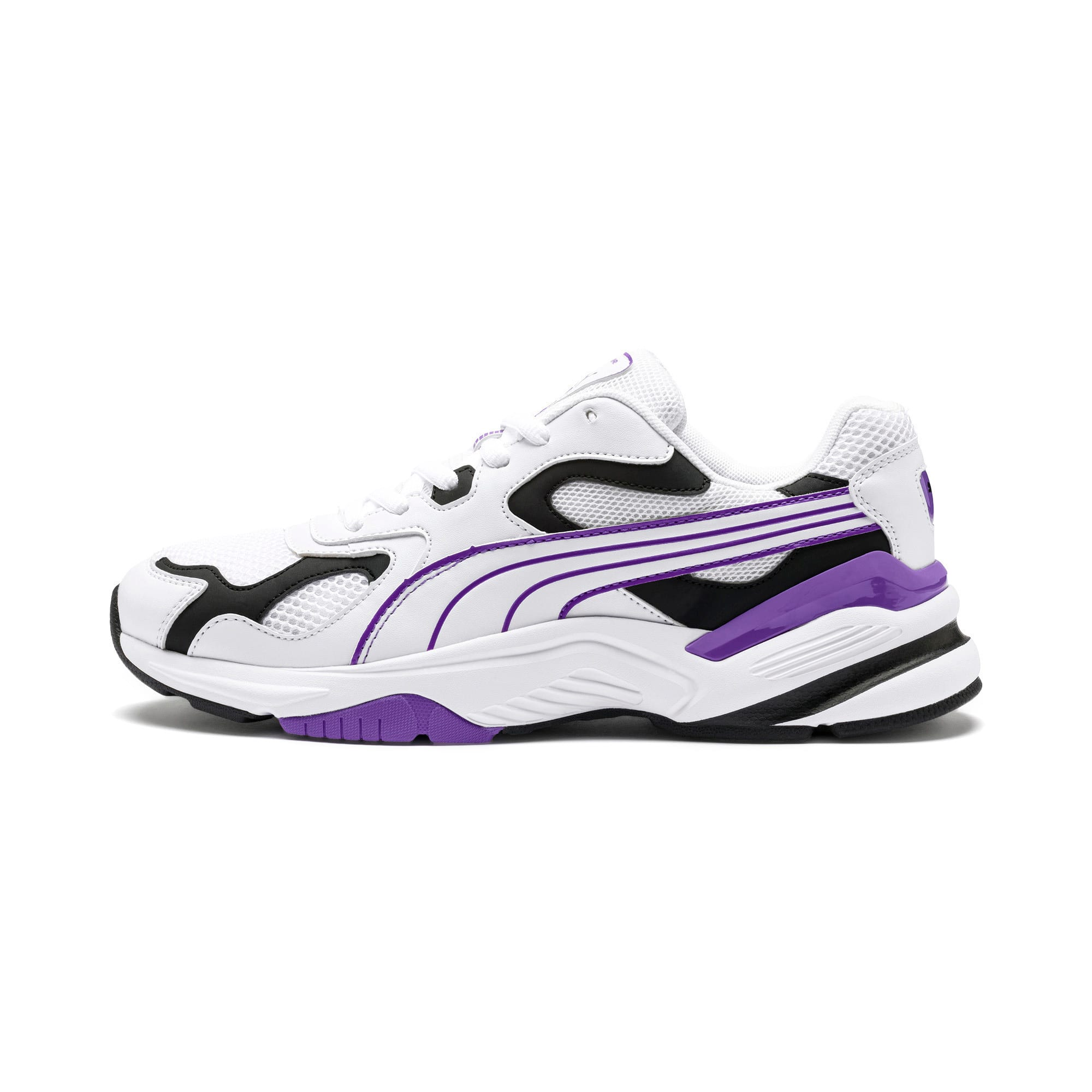 Thumbnail 1 of Axis SUPR Trainers, White-Black-Purple Glimmer, medium-IND