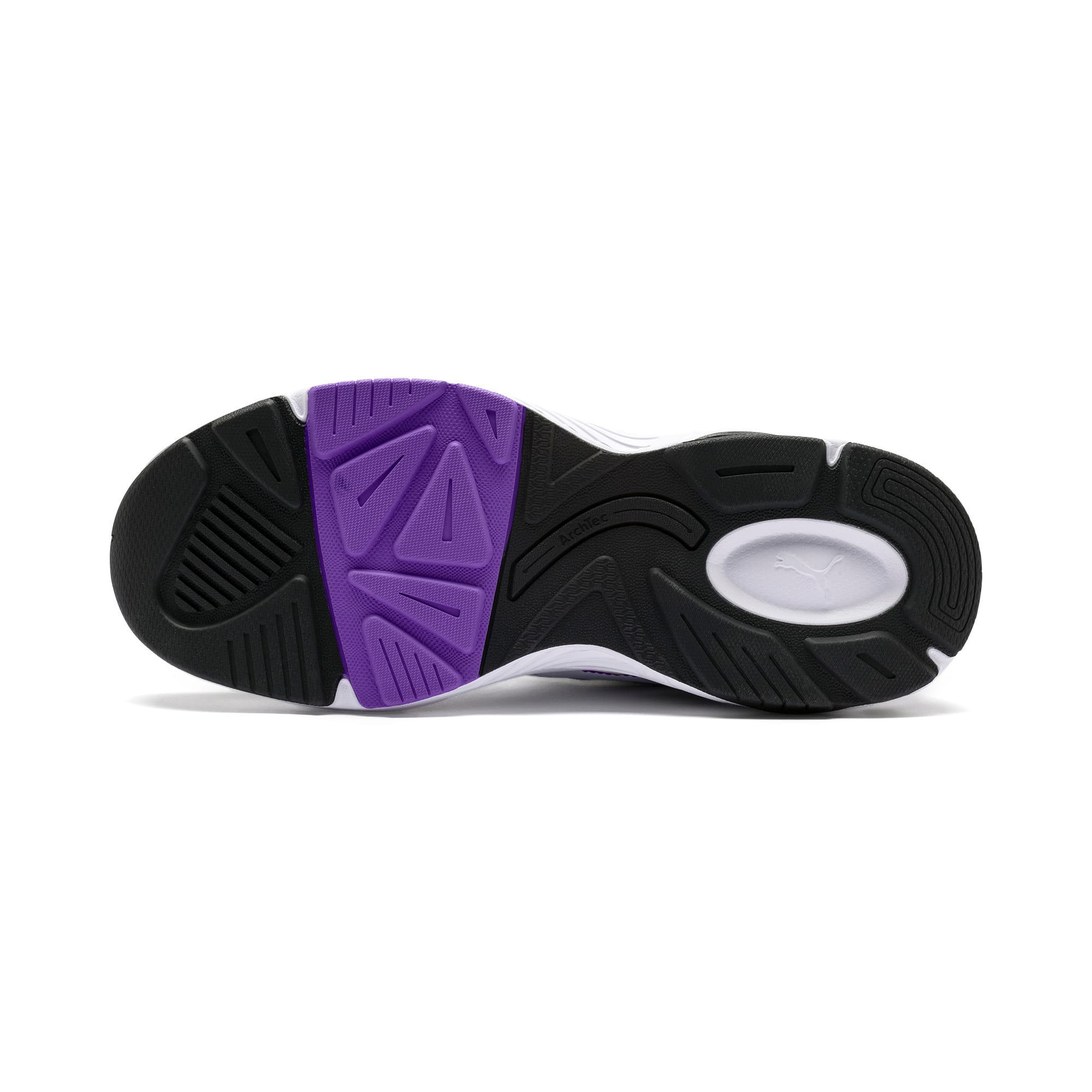 Thumbnail 6 of Axis SUPR Trainers, White-Black-Purple Glimmer, medium-IND