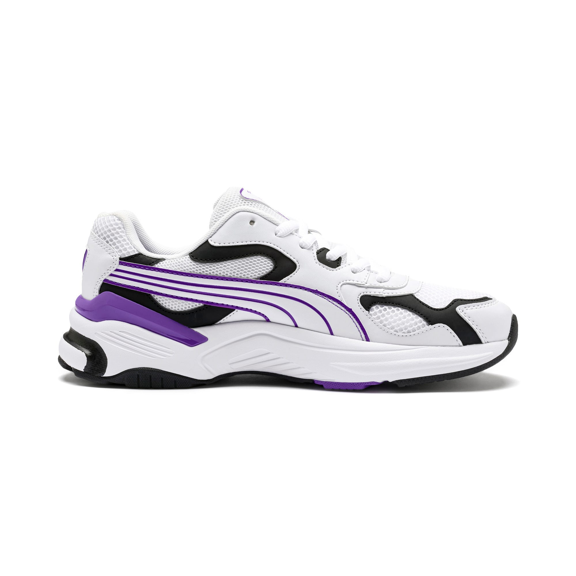 Thumbnail 7 of Axis SUPR Trainers, White-Black-Purple Glimmer, medium-IND