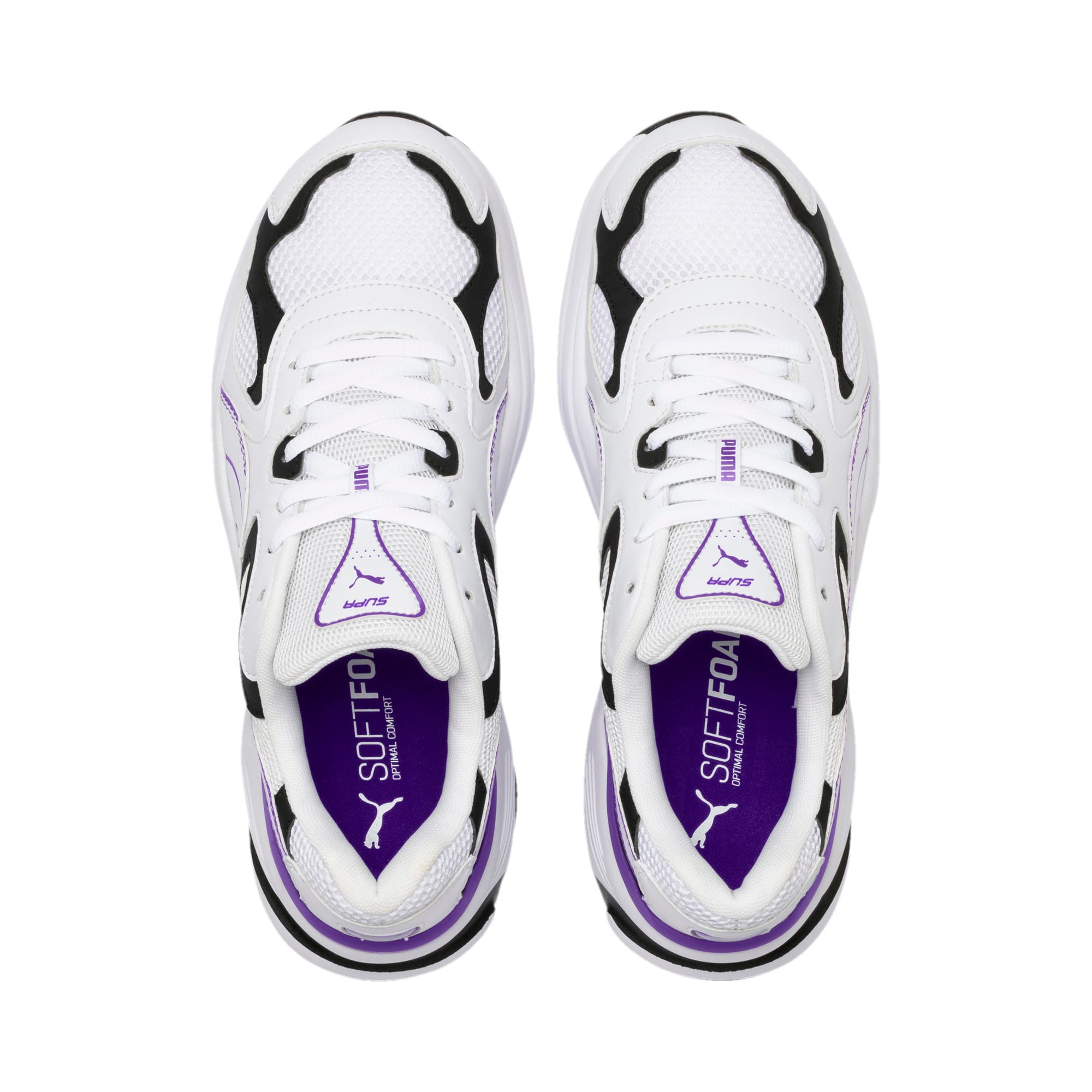 Thumbnail 8 of Axis SUPR Trainers, White-Black-Purple Glimmer, medium-IND