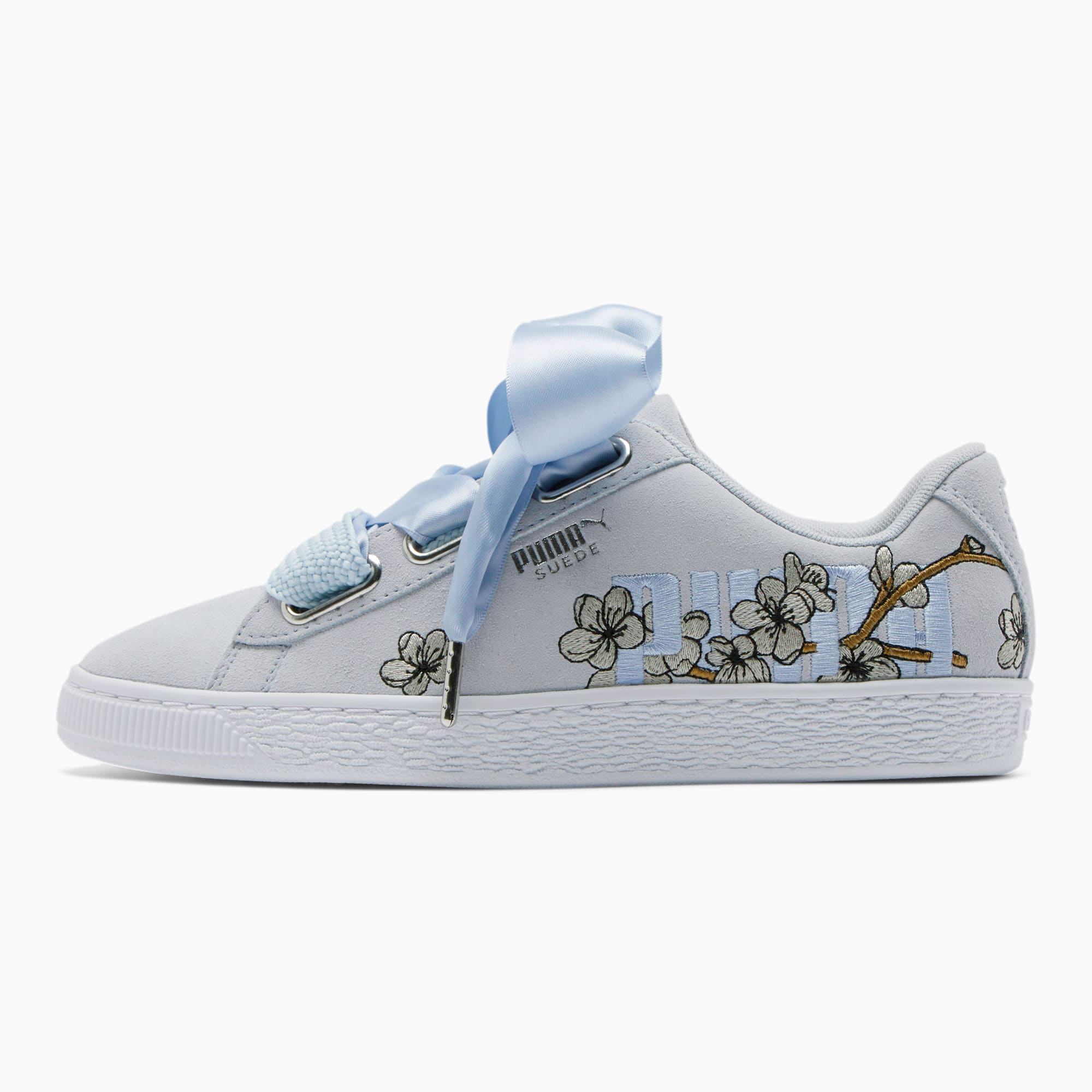 puma basket heart womens