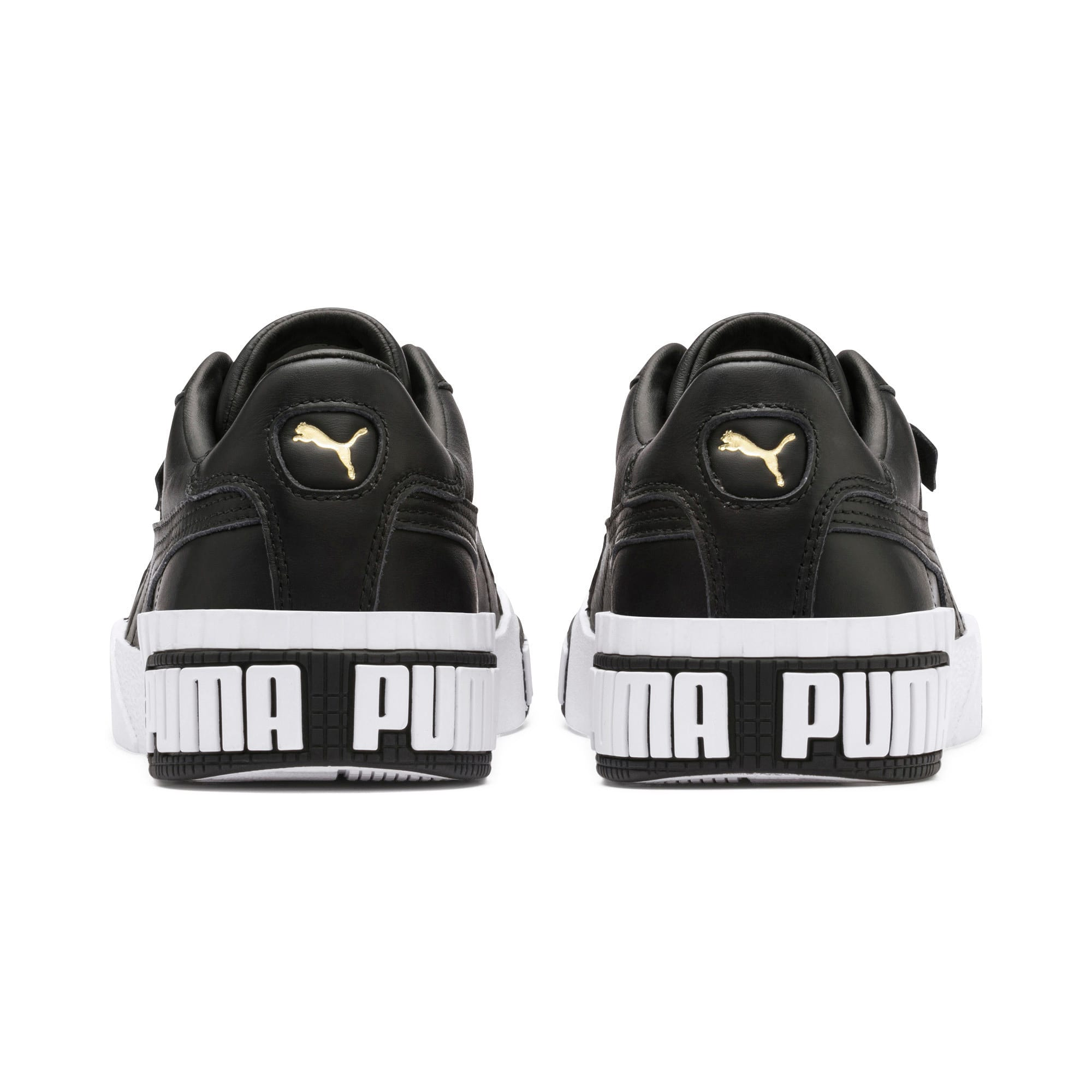 Thumbnail 4 of Cali Bold Damen Sneaker, Puma Black-Metallic Gold, medium