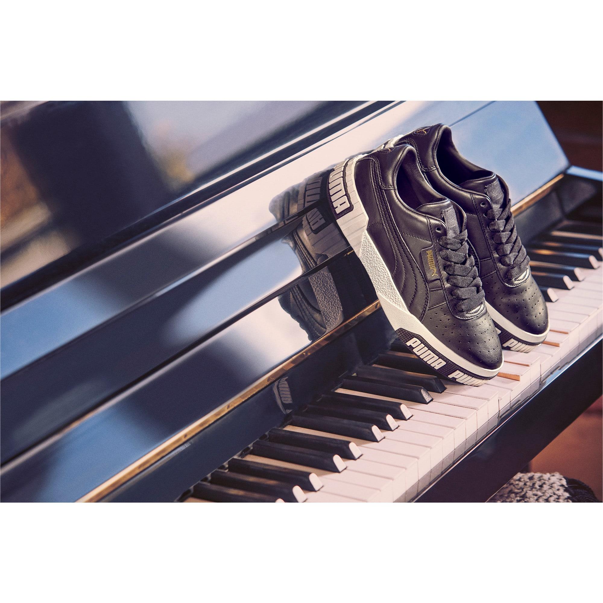 Thumbnail 10 of Cali Bold Women's Sneakers, Puma Black-Metallic Gold, medium