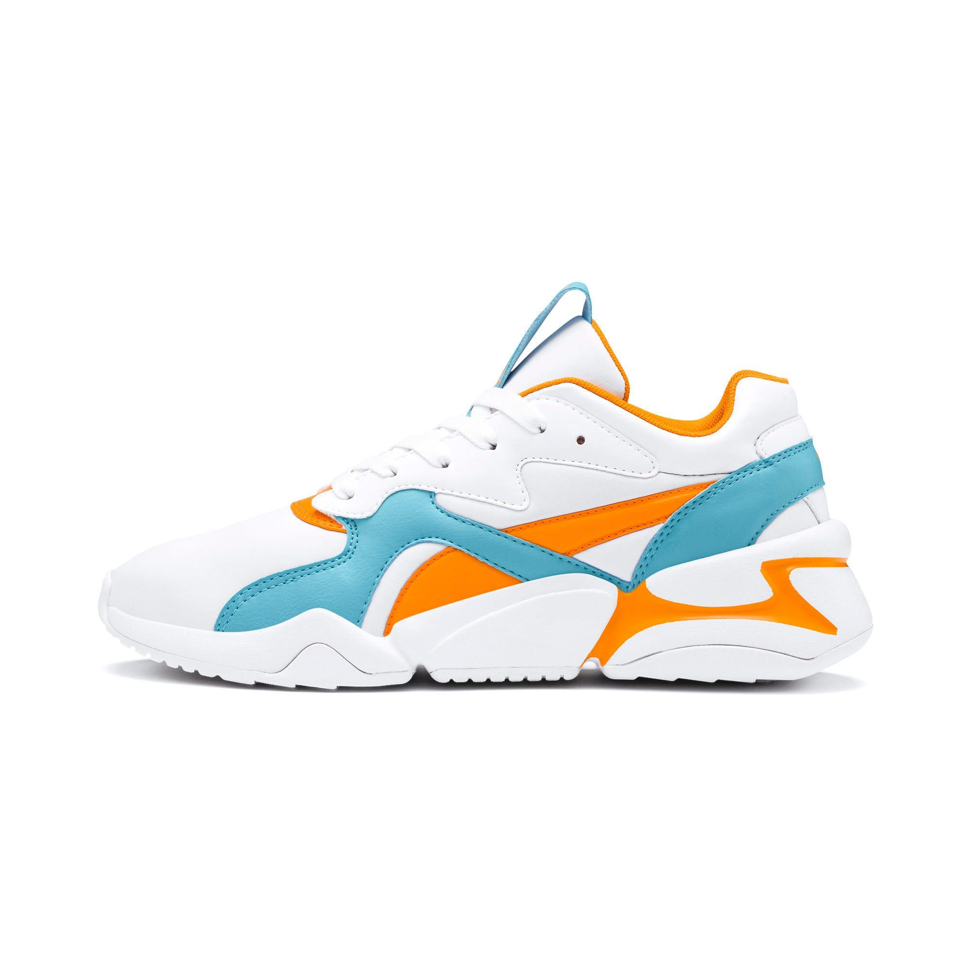 Thumbnail 1 of Nova Women's Sneakers, Puma White-Milky Blue, medium