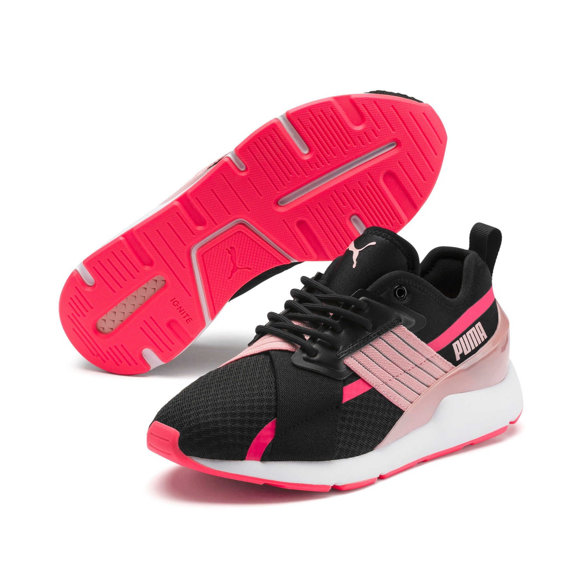 Thumbnail 3 of Muse X-2 Women's Sneakers, Puma Black-Bridal Rose, medium