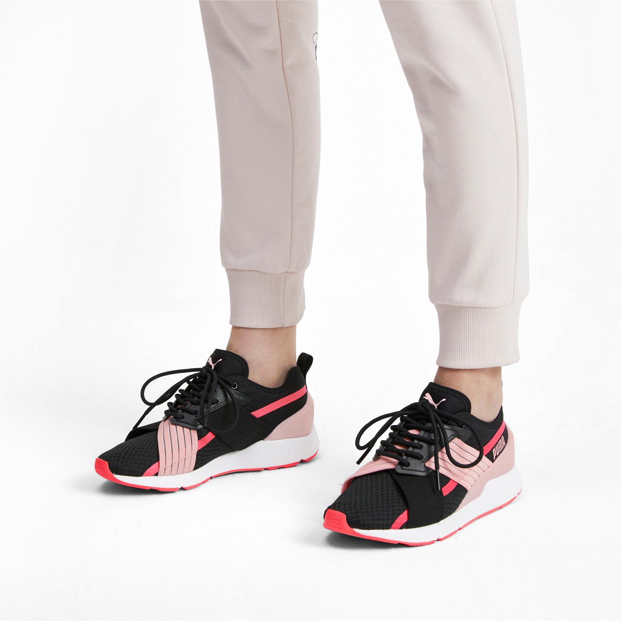 Thumbnail 2 of Muse X-2 Women's Sneakers, Puma Black-Bridal Rose, medium