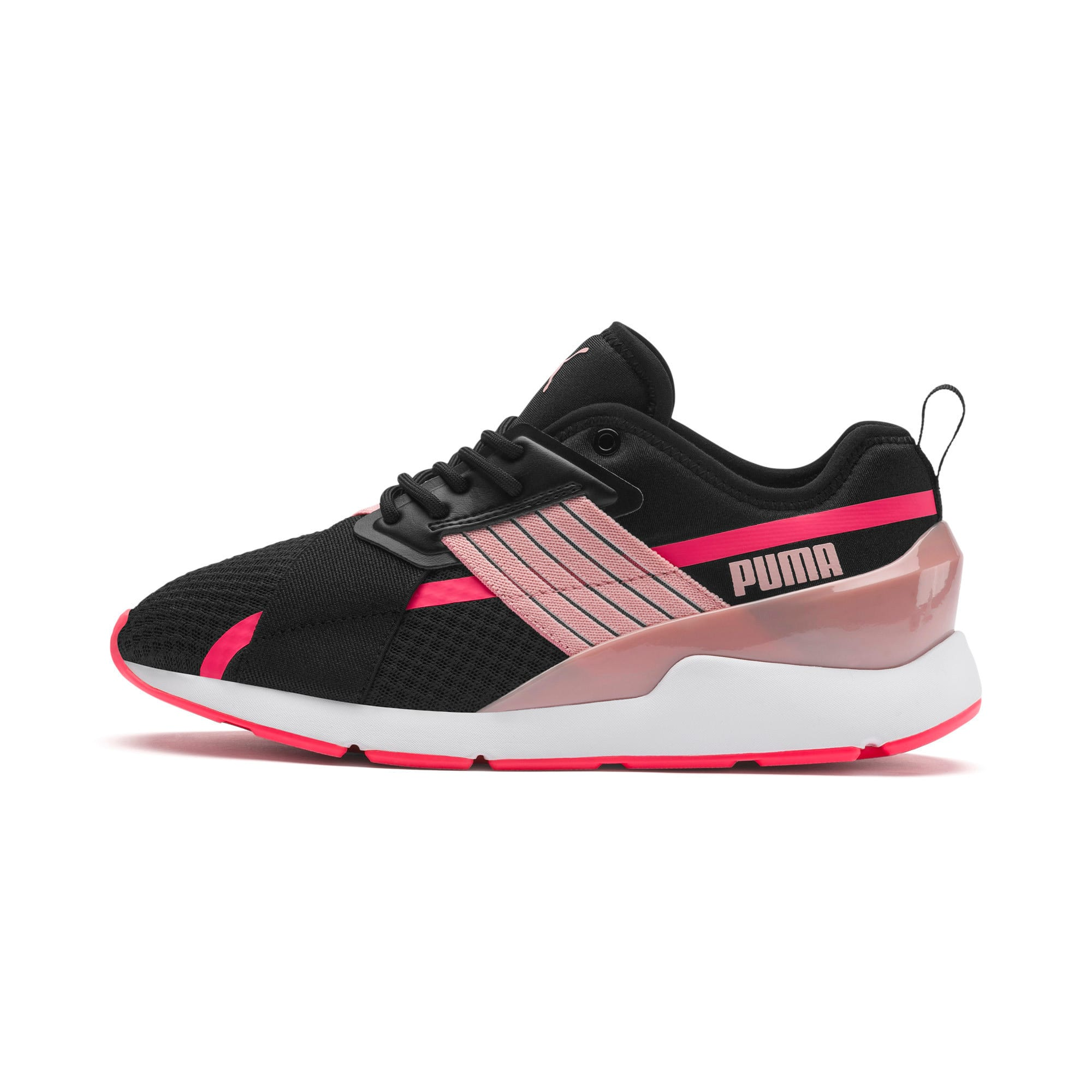 Muse X-2 Women's Trainers, Puma Black-Bridal Rose, large