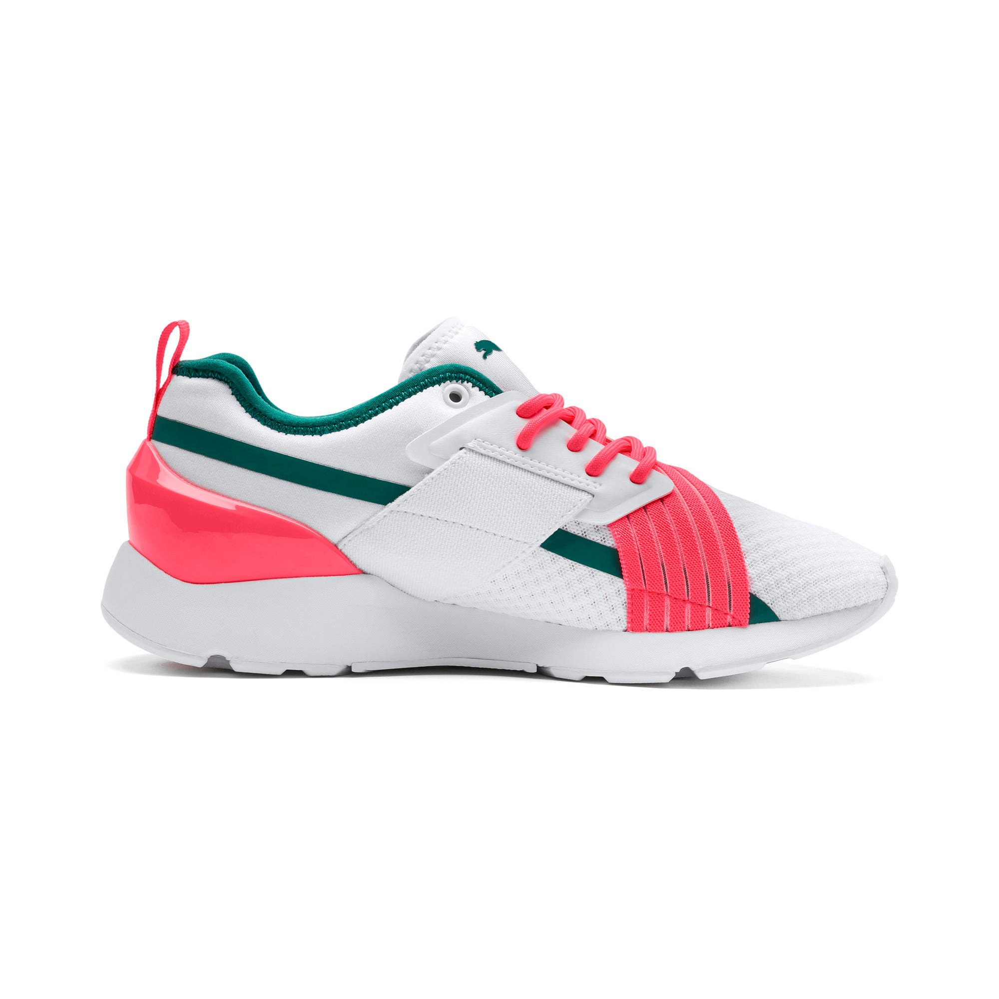 Thumbnail 5 of Muse X-2 Women's Trainers, Puma White-Pink Alert, medium-IND