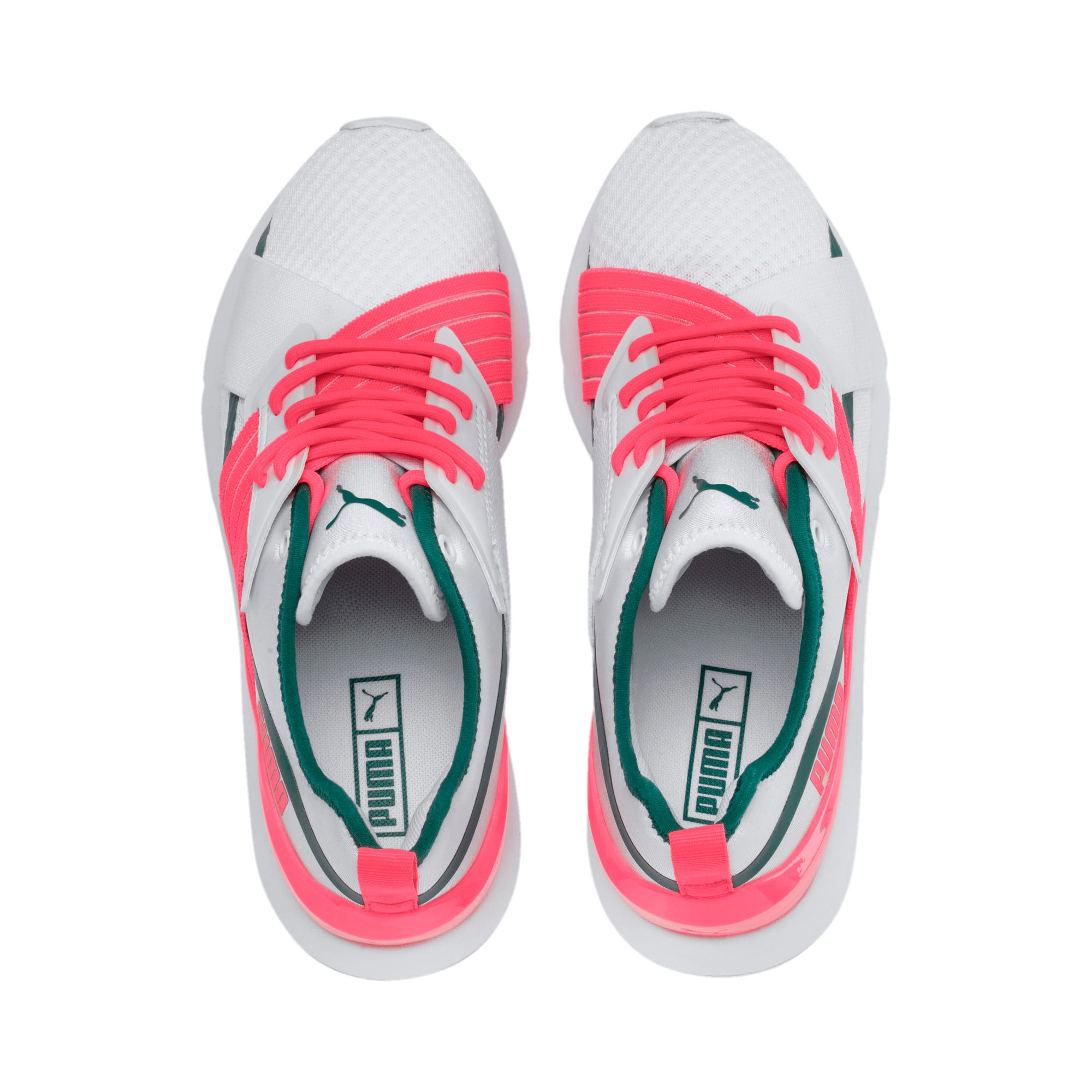 Thumbnail 4 of Muse X-2 Women's Trainers, Puma White-Pink Alert, medium-IND