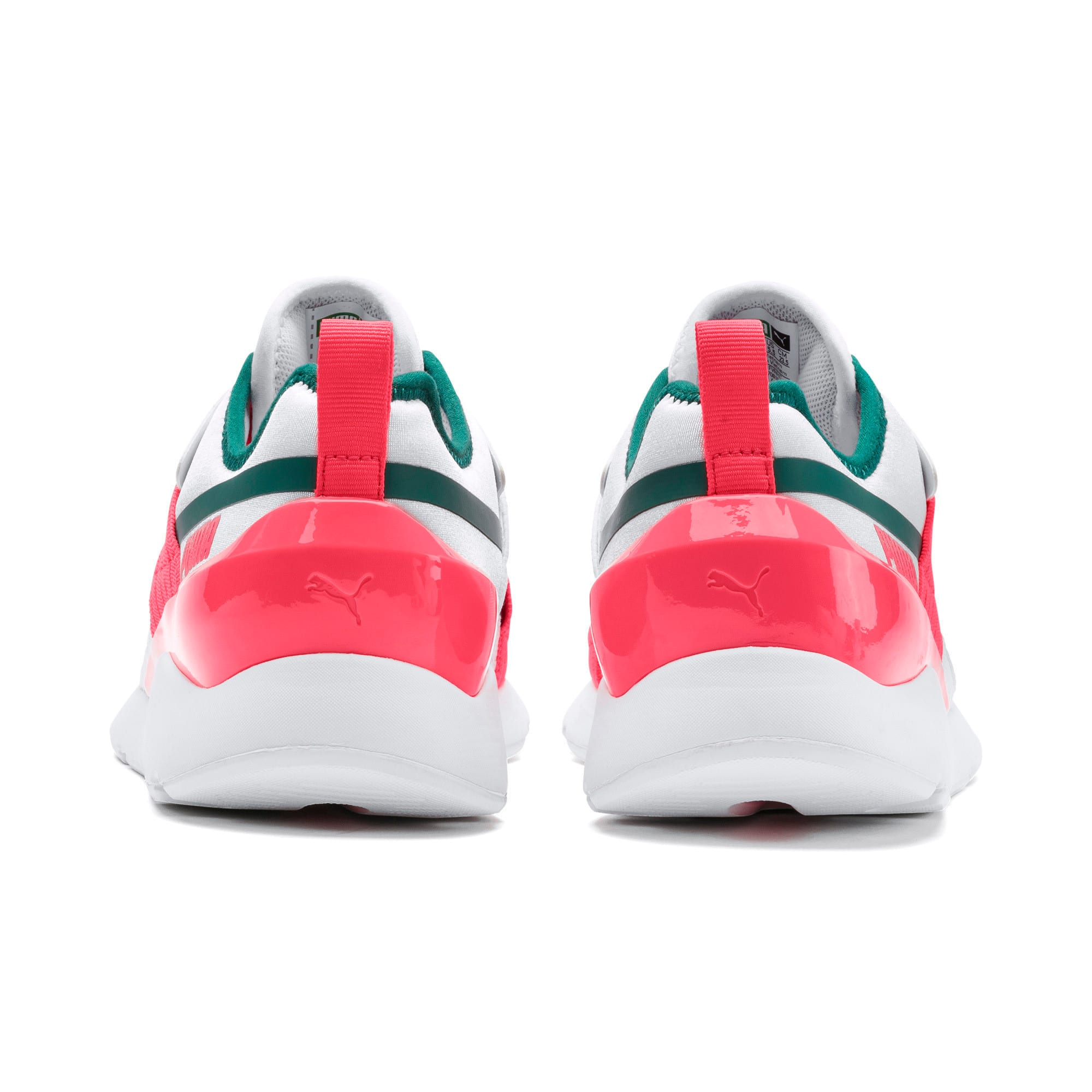 Thumbnail 6 of Muse X-2 Women's Trainers, Puma White-Pink Alert, medium-IND