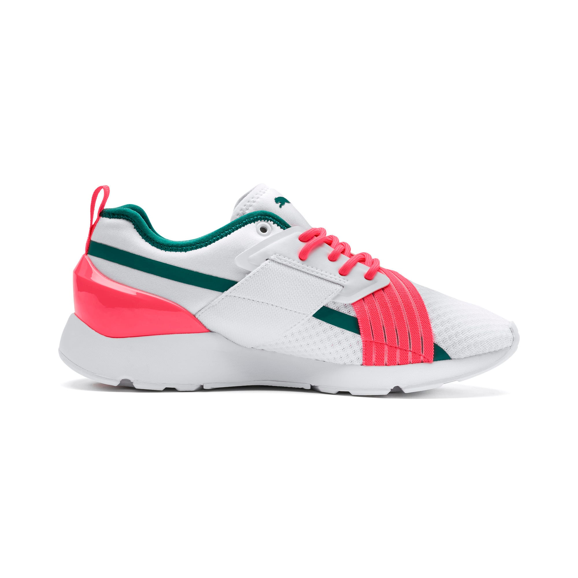 Thumbnail 6 of Muse X-2 Women's Trainers, Puma White-Pink Alert, medium
