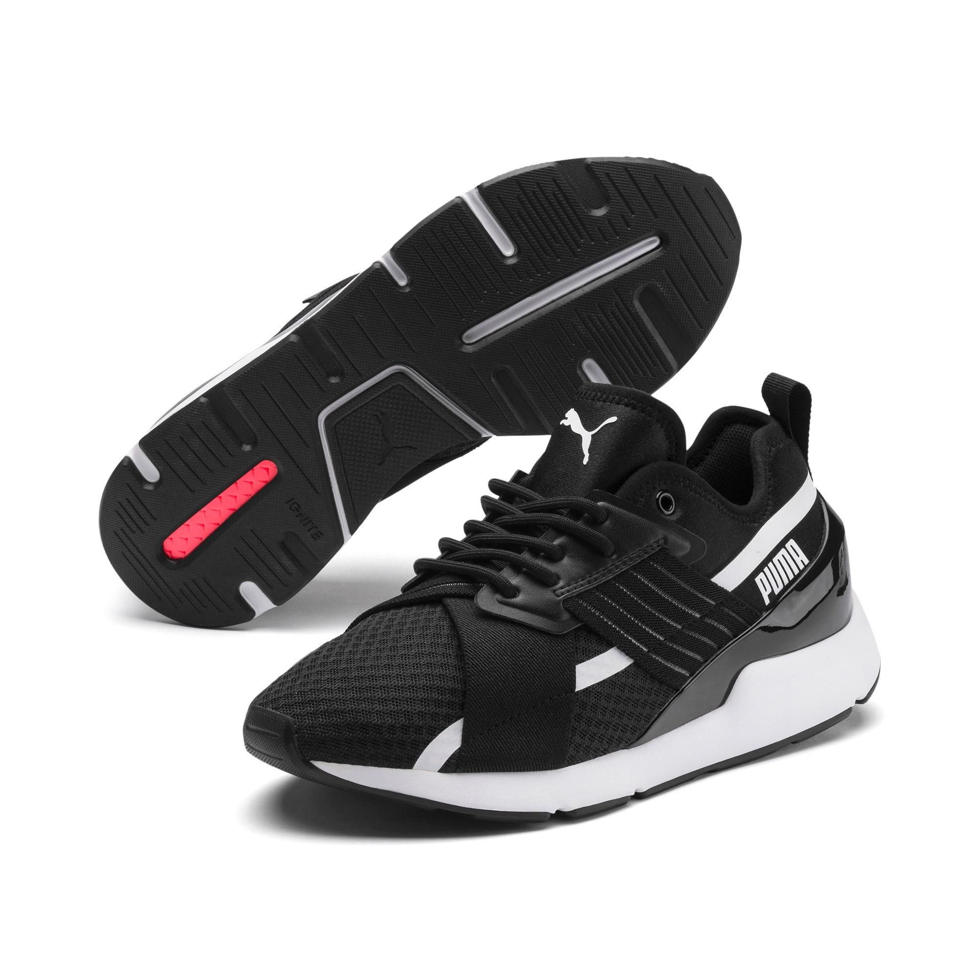 Thumbnail 2 of Muse X-2 Women's Sneakers, Puma Black-Puma White, medium