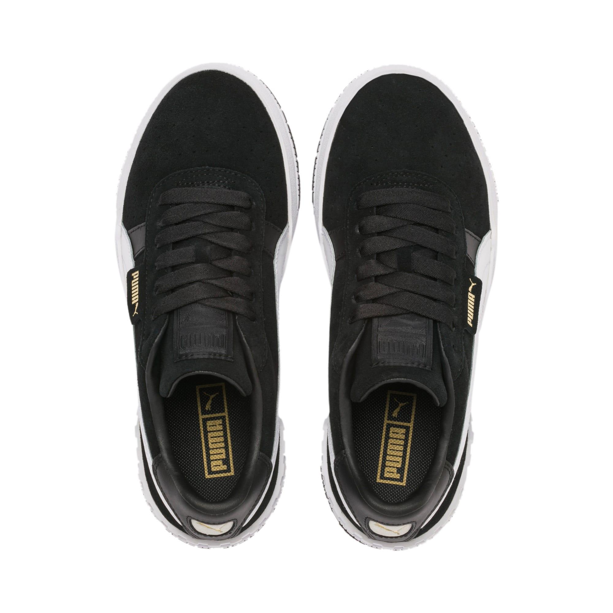 Thumbnail 7 of Cali Taped Damen Sneaker, Puma Black-Metallic Gold, medium