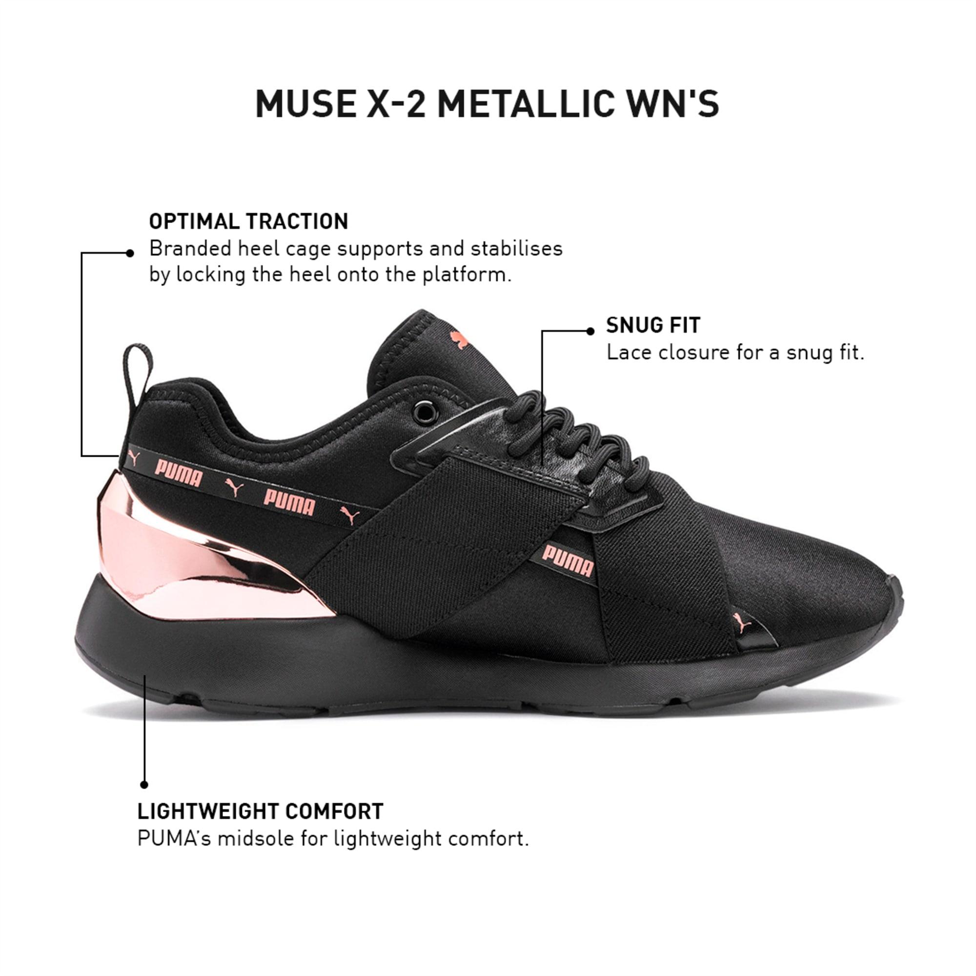 Muse X 2 Metallic Imeva Women S Shoes Puma Black Rose Gold Puma Sneakers Puma