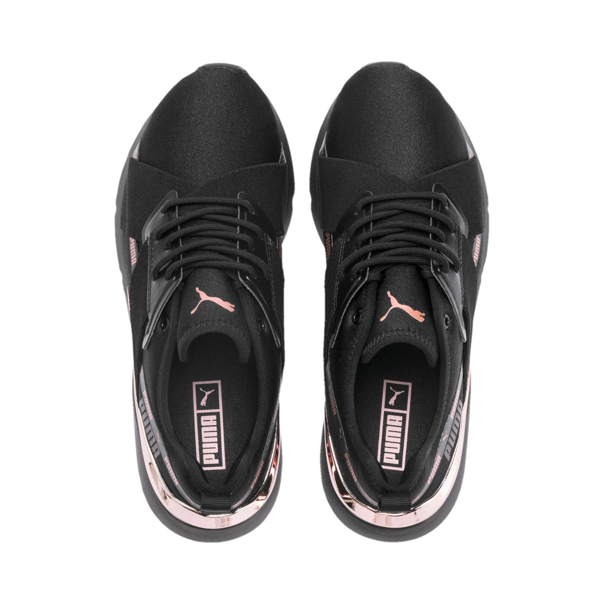 Thumbnail 7 of Muse X-2 Metallic Women's Sneakers, Puma Black-Rose Gold, medium