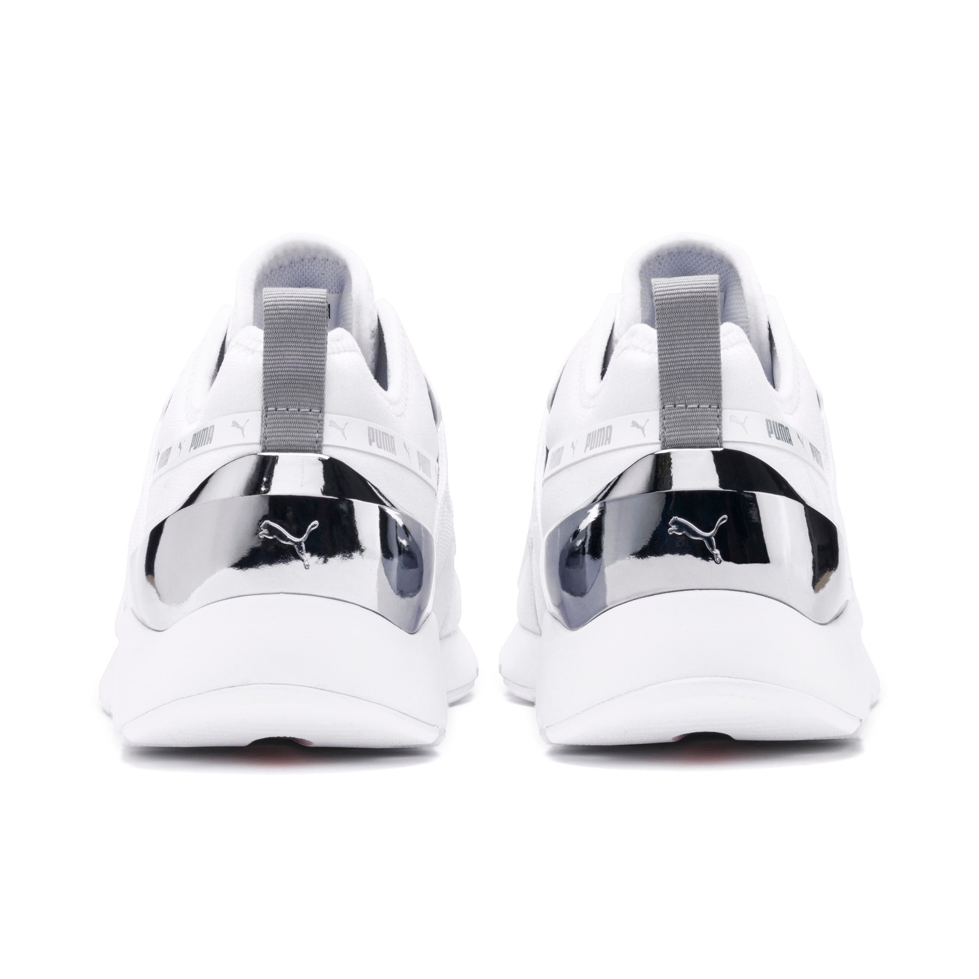 Anteprima 4 di Muse X-2 Metallic Women's Trainers, Puma White, medio