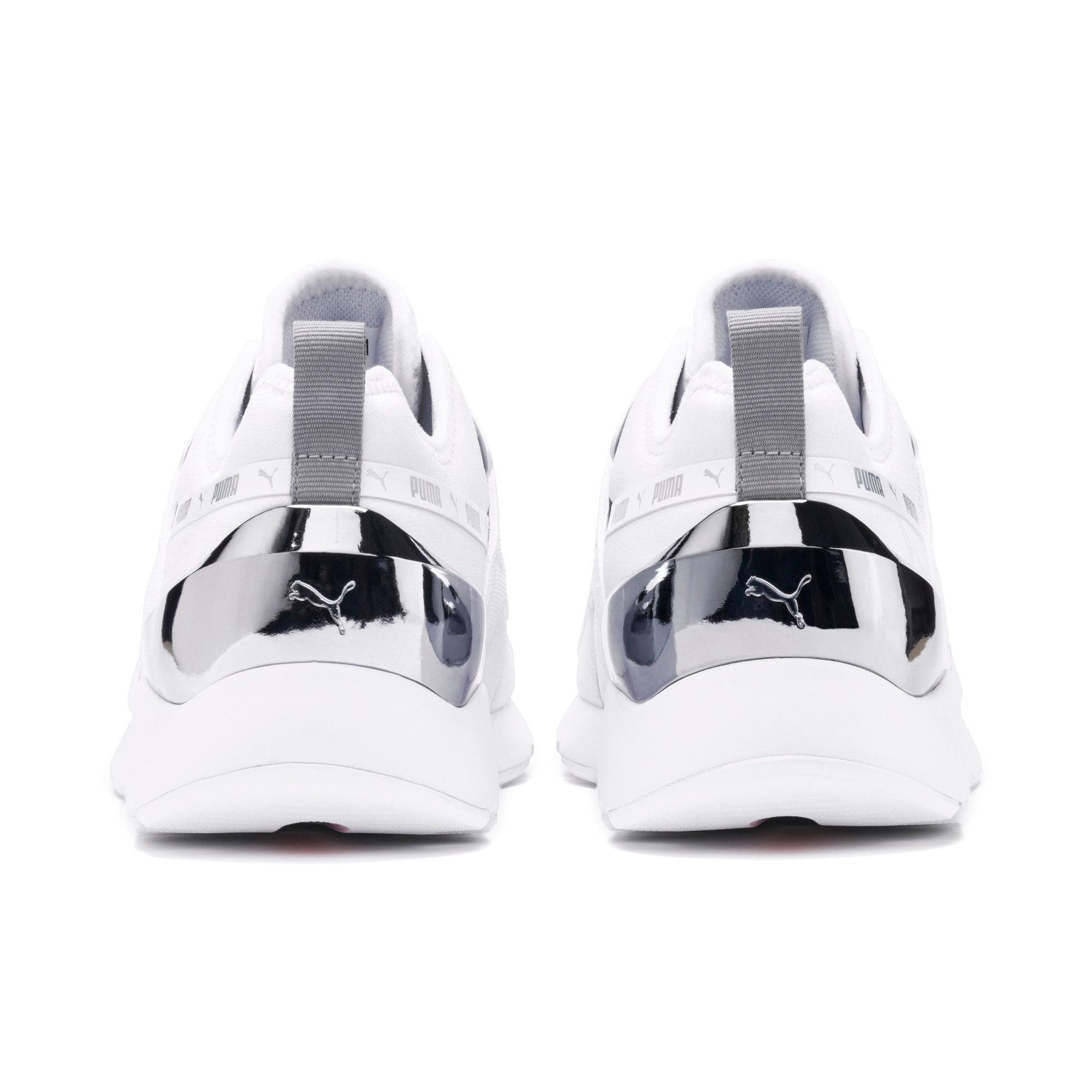 Thumbnail 4 of Muse X-2 Metallic Women's Sneakers, Puma White, medium
