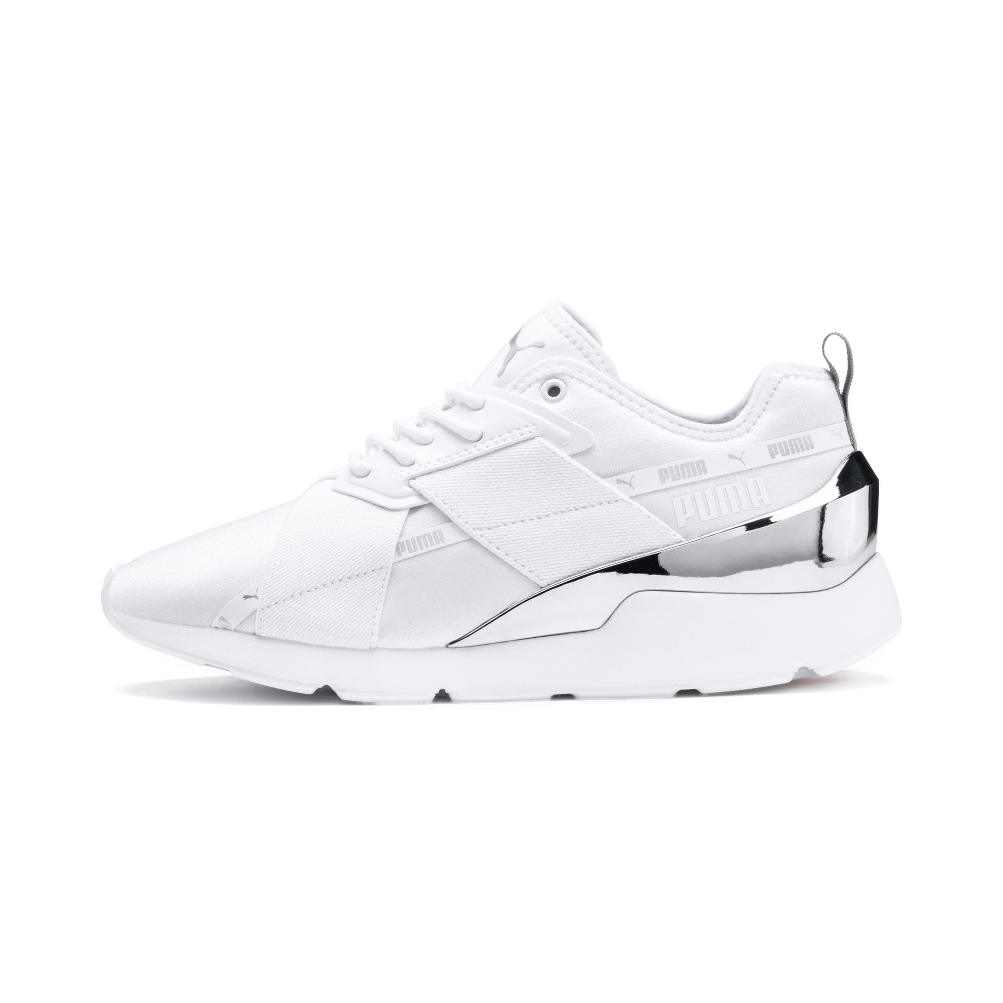 Anteprima 1 di Muse X-2 Metallic Women's Trainers, Puma White, medio