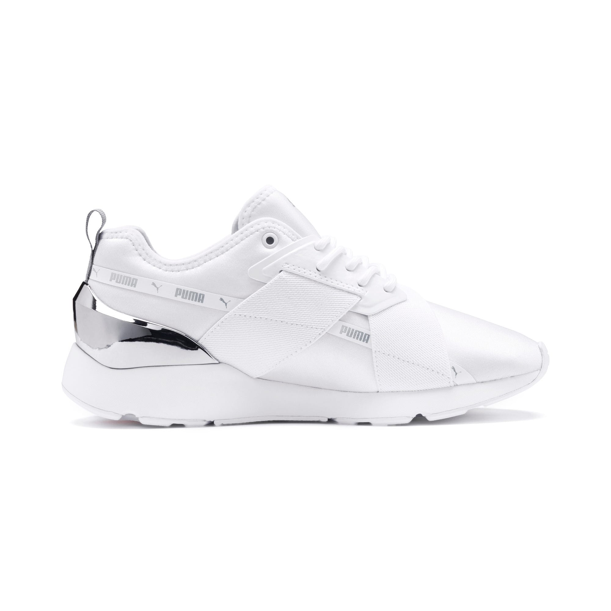 Anteprima 6 di Muse X-2 Metallic Women's Trainers, Puma White, medio