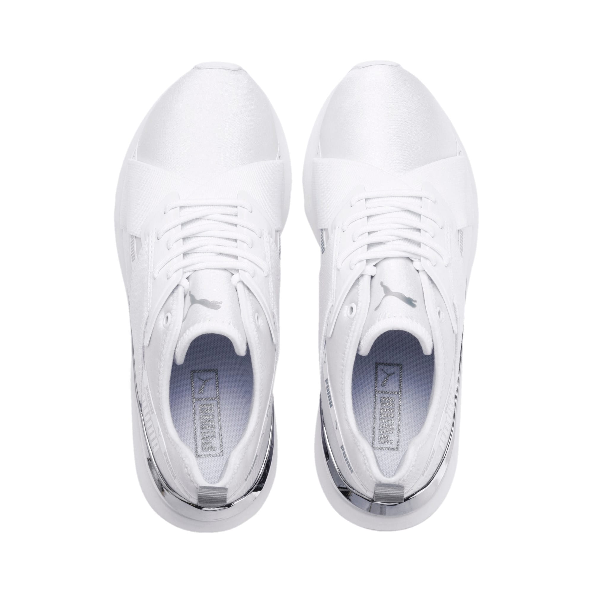 Anteprima 7 di Muse X-2 Metallic Women's Trainers, Puma White, medio