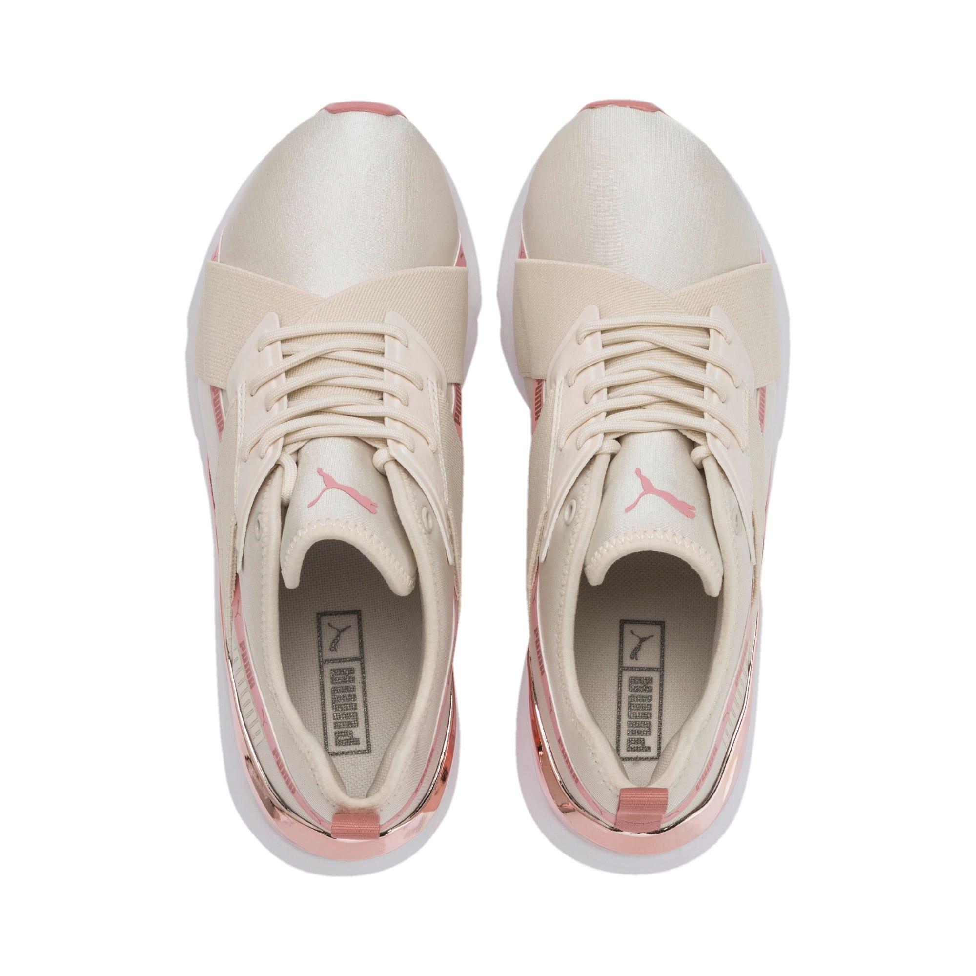 Thumbnail 7 of Muse X-2 Metallic Women's Sneakers, Pastel Parchment-Rose Gold, medium