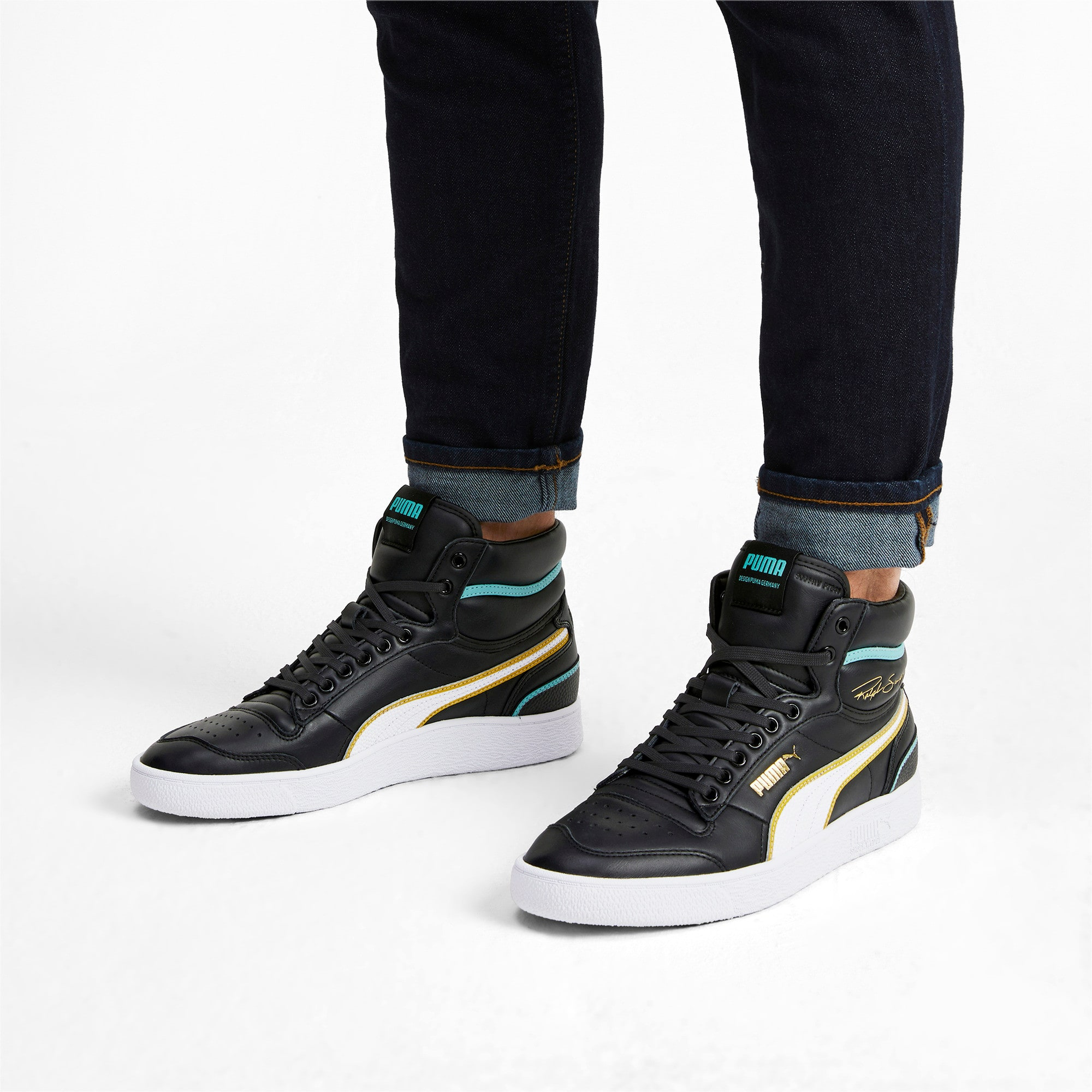 Miniatura 2 de Zapatos deportivos de caña media Ralph Sampson Hoops, Puma Blk-Puma Wht-Puma Wht, mediano