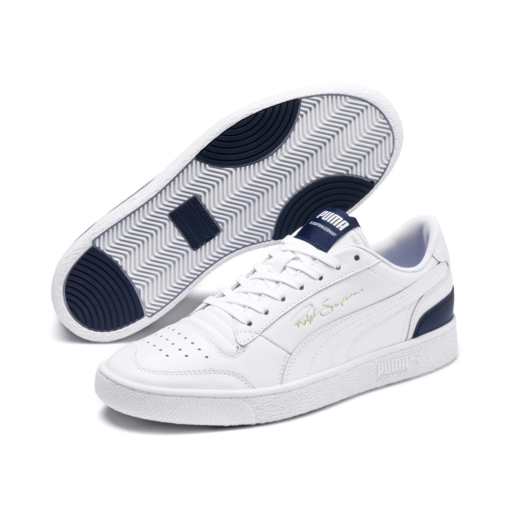 Thumbnail 2 of Ralph Sampson Lo Sneakers, Puma Wht-Peacoat-Puma Wht, medium