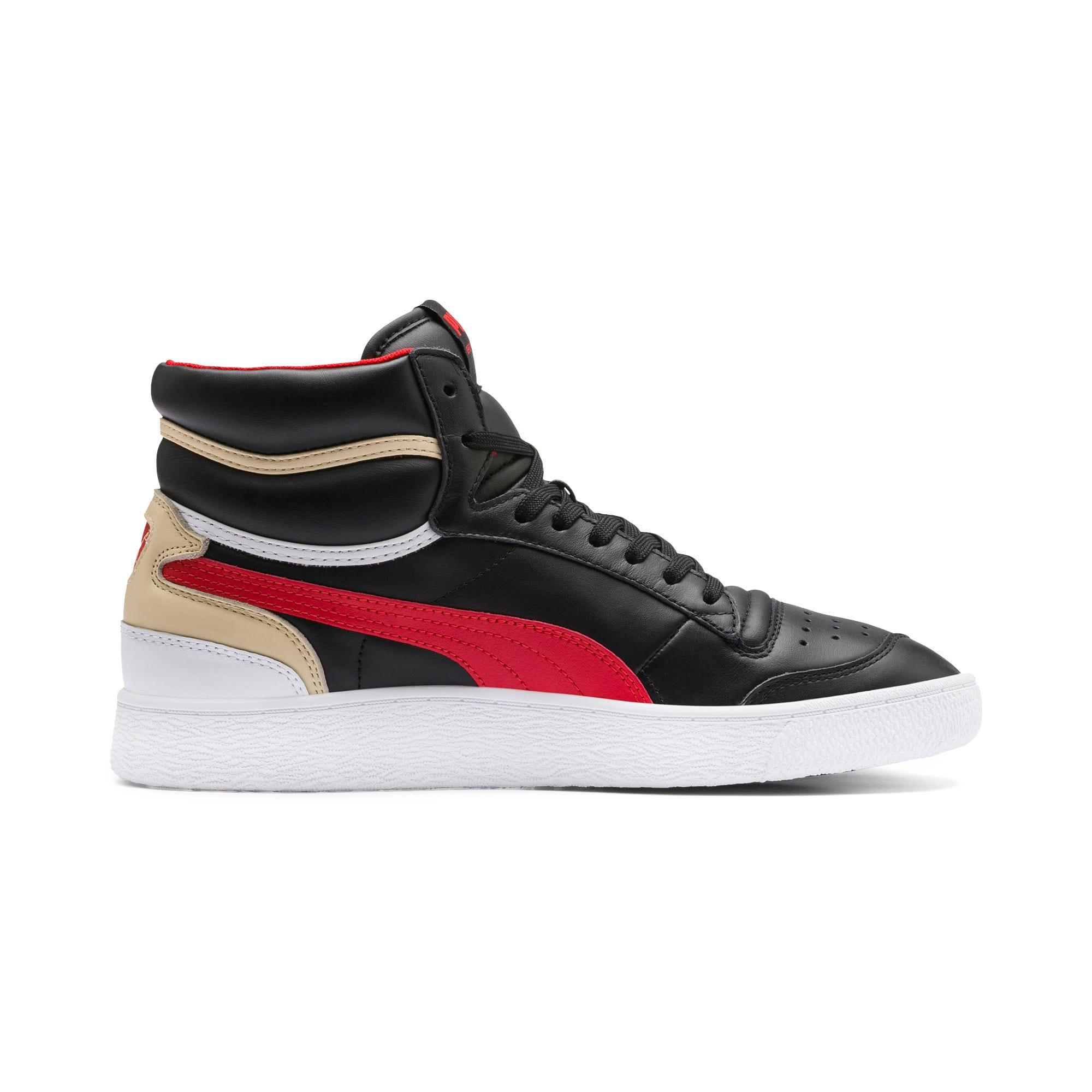 Thumbnail 5 of Ralph Sampson Mid Sneakers, PBlack-High Risk Red-PWhite, medium