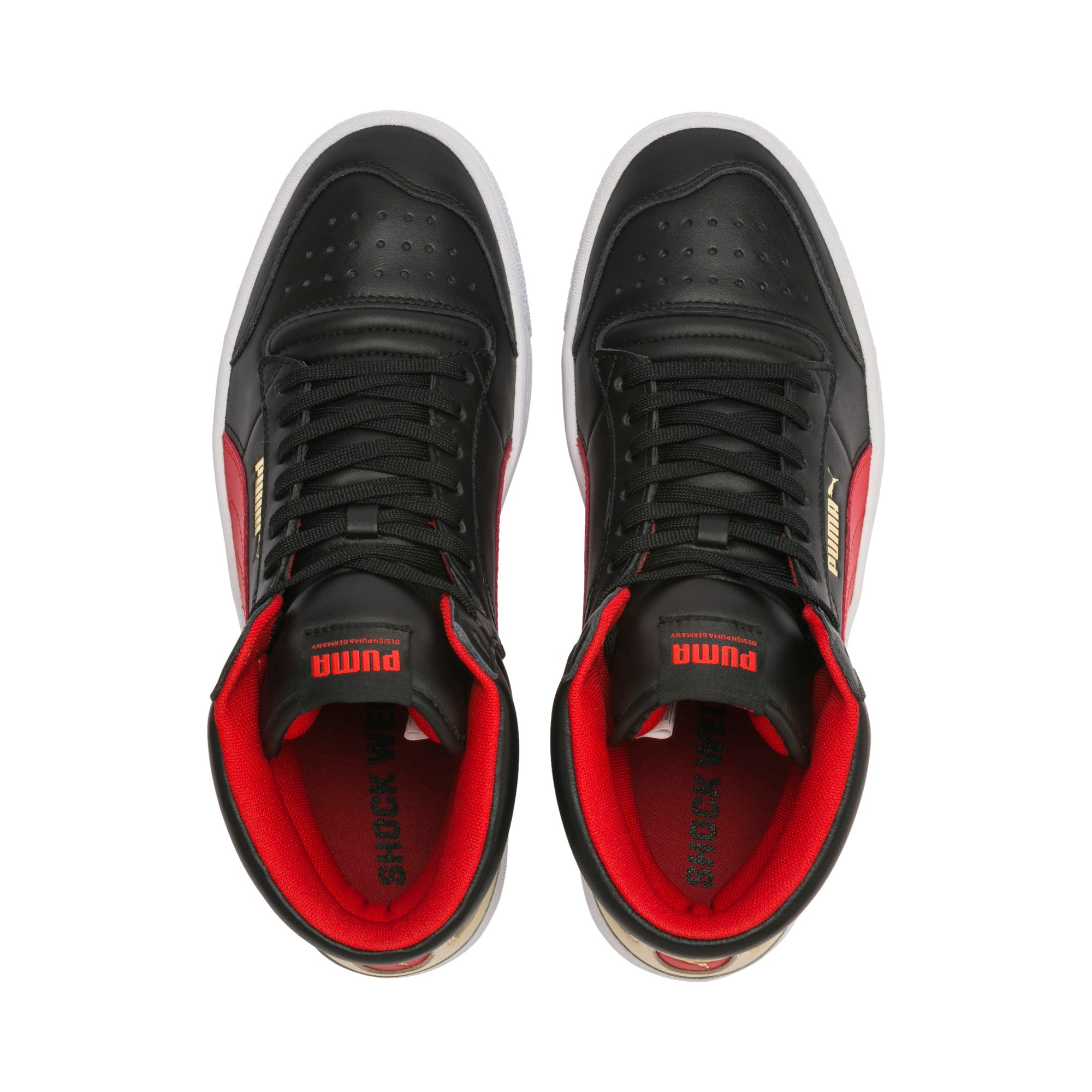 Thumbnail 6 of Ralph Sampson Mid Trainers, PBlack-High Risk Red-PWhite, medium