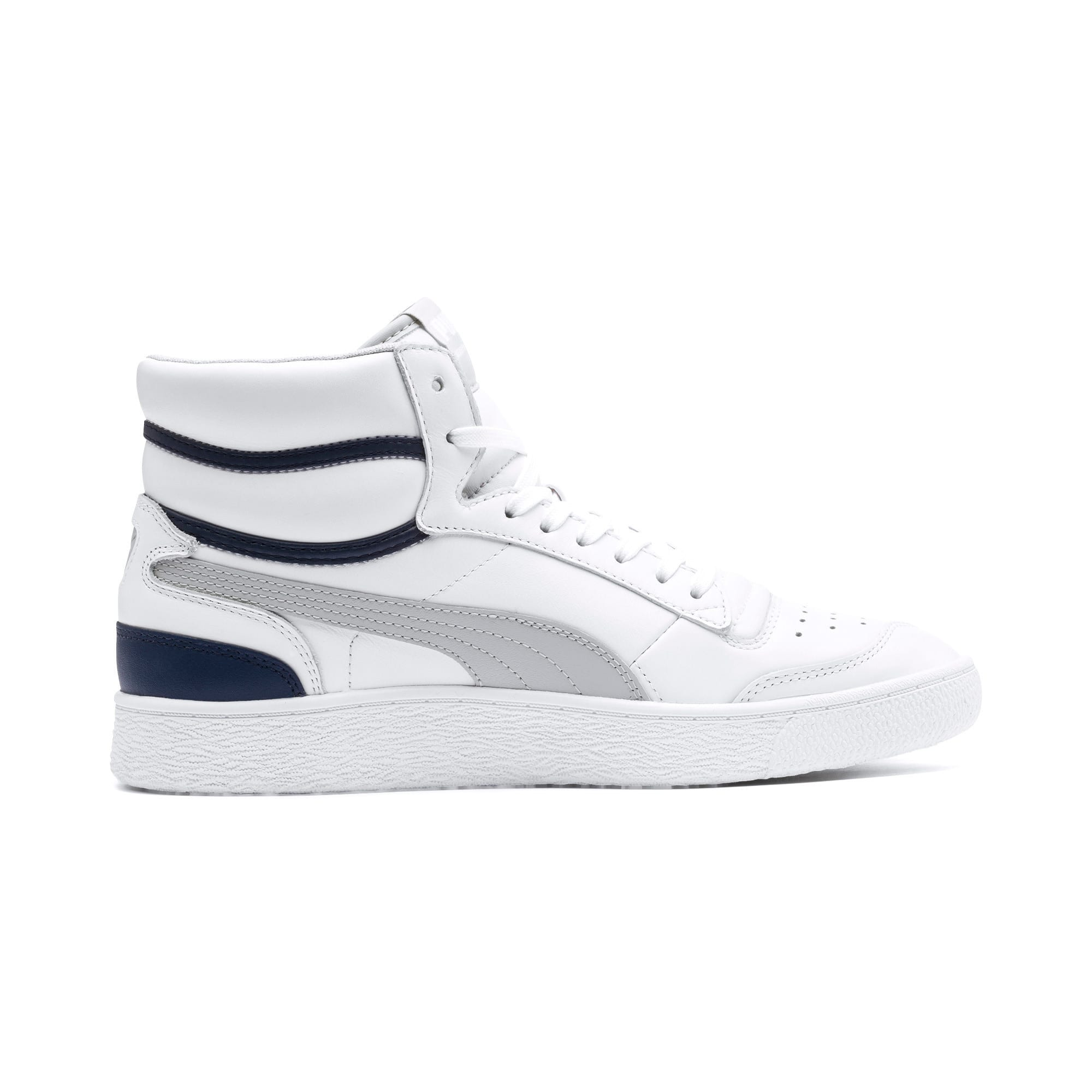 Thumbnail 3 of Ralph Sampson Mid Trainers, P White-Gray Violet-Peacoat, medium-IND