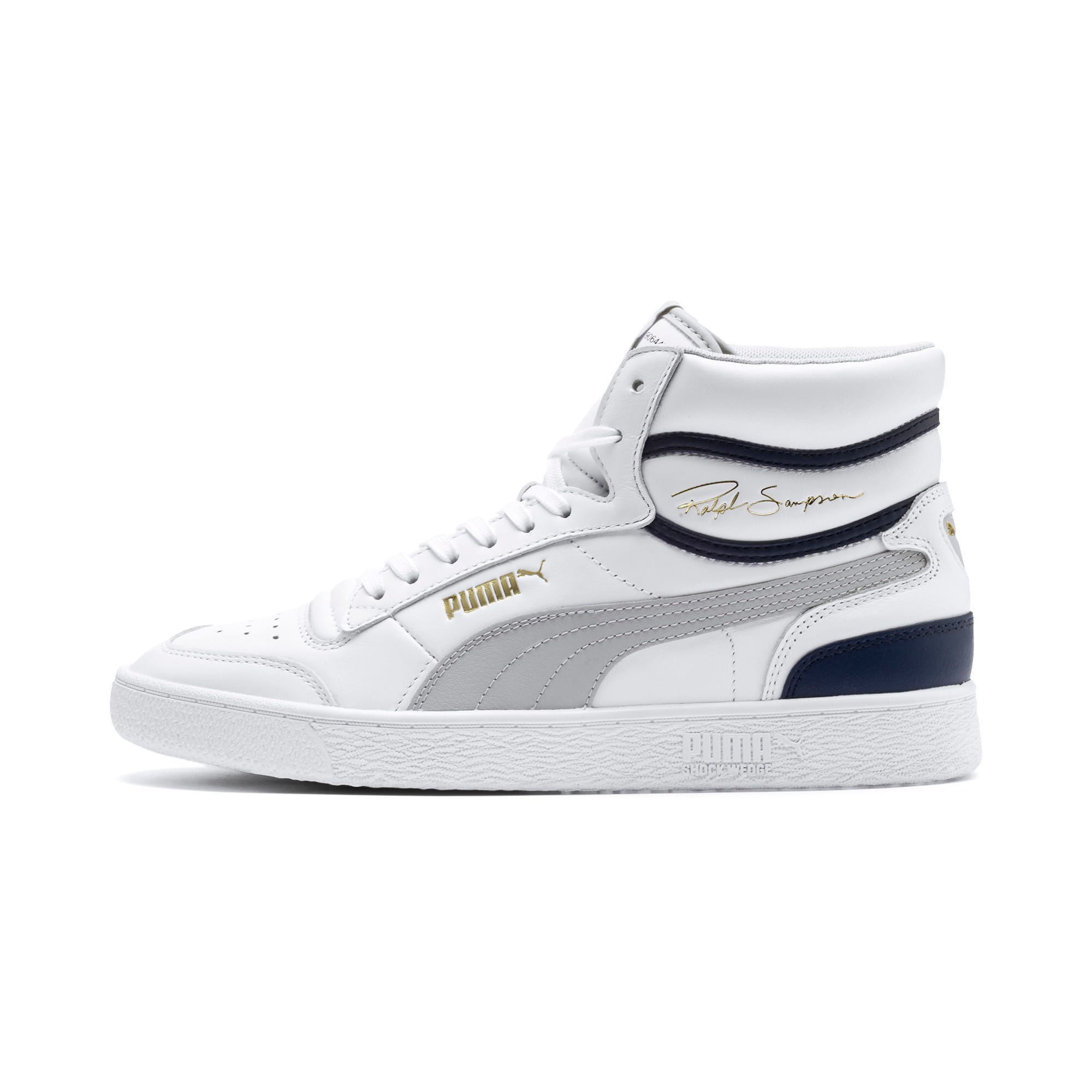 Thumbnail 1 of Ralph Sampson Mid Trainers, P White-Gray Violet-Peacoat, medium-IND