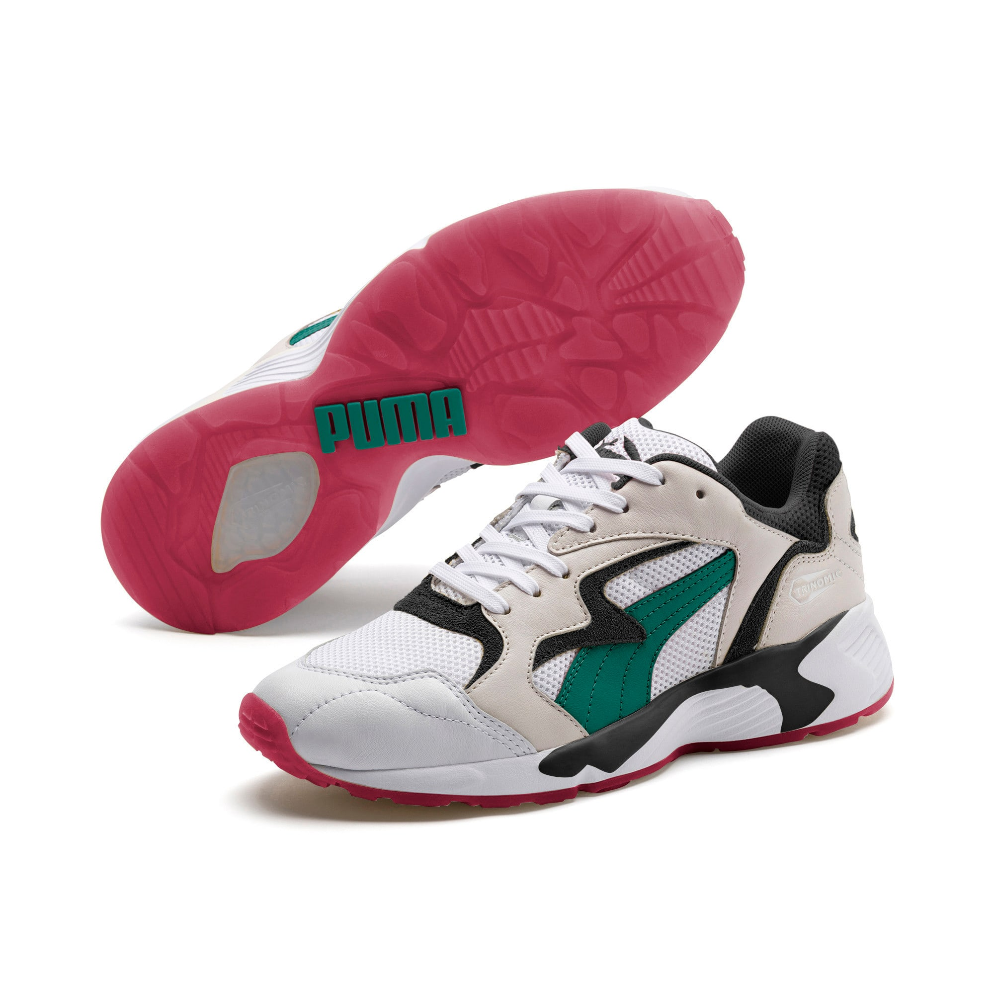 Thumbnail 2 of Prevail Classic Trainers, Puma White-Teal Green, medium