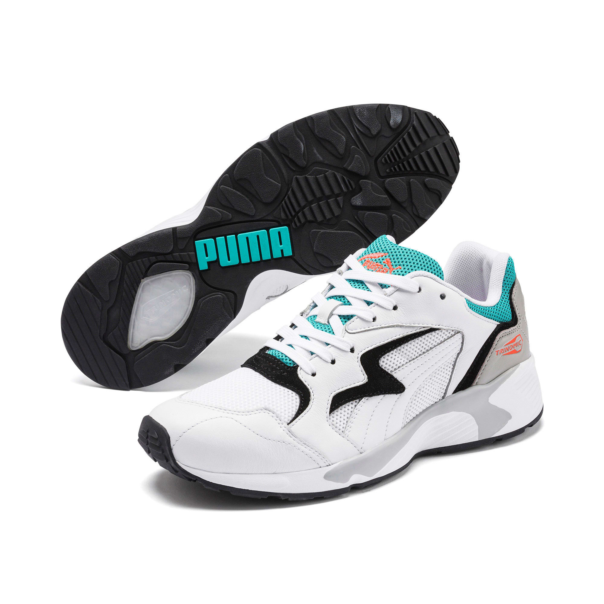 Thumbnail 2 of Prevail Classic Trainers, Puma White-Blue Turquoise, medium