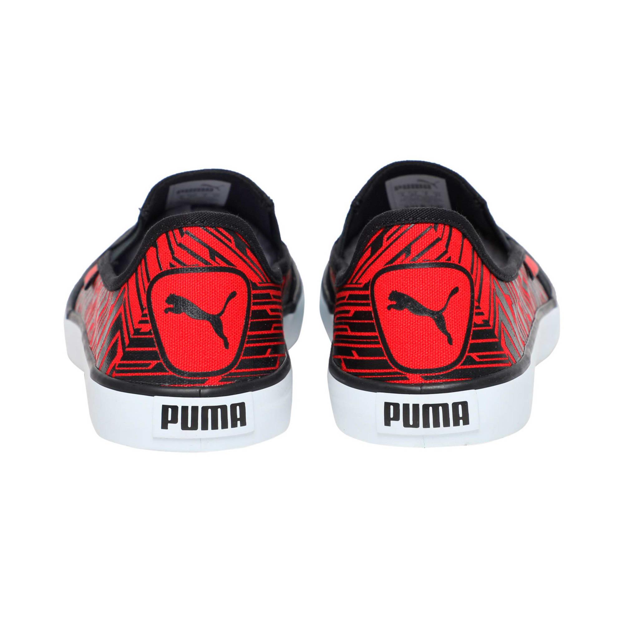 Thumbnail 3 of Campario IDP, Puma Black-High Risk Red, medium-IND