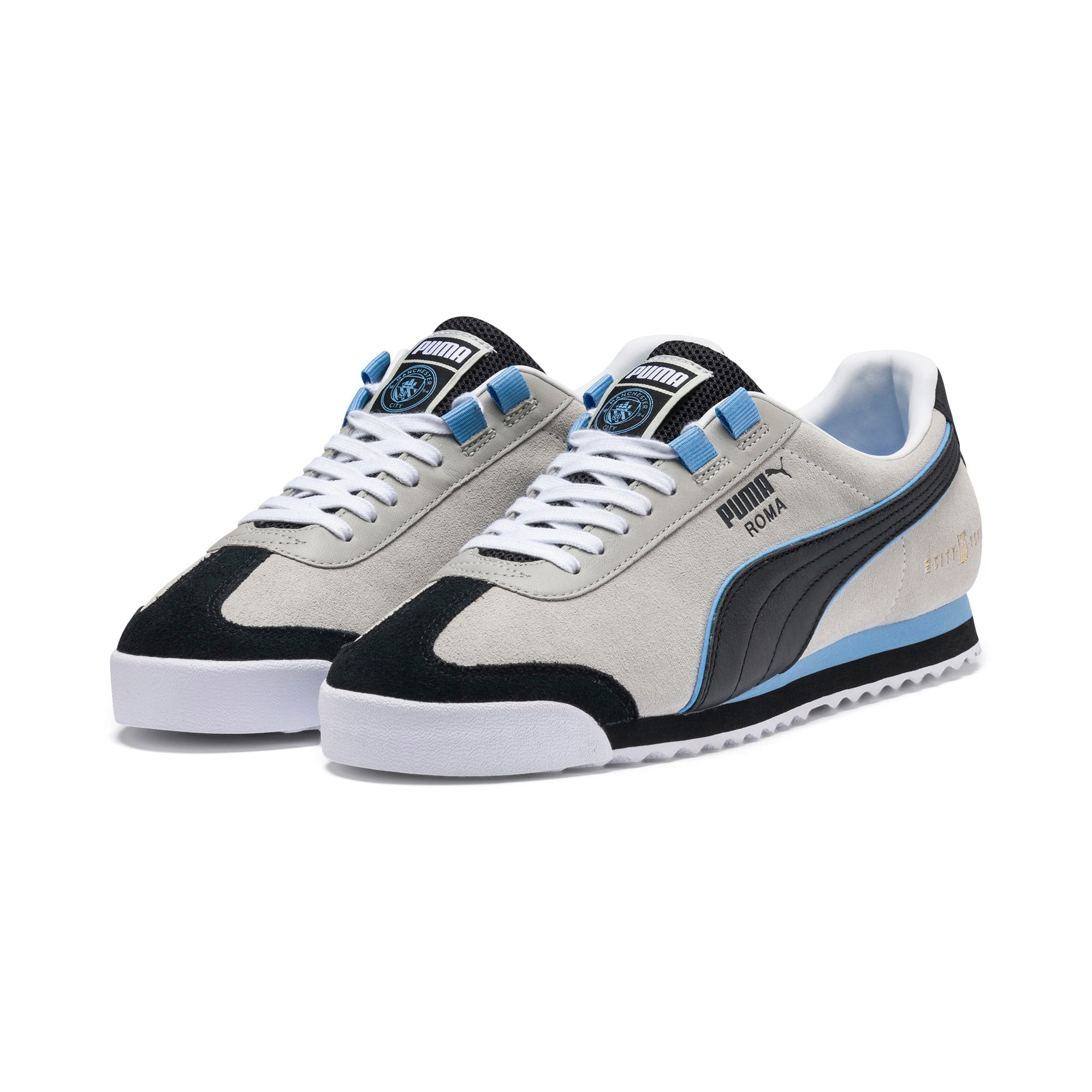 Thumbnail 2 of Roma Manchester City Men's Sneakers, Gray Violet-Team Light Blue, medium