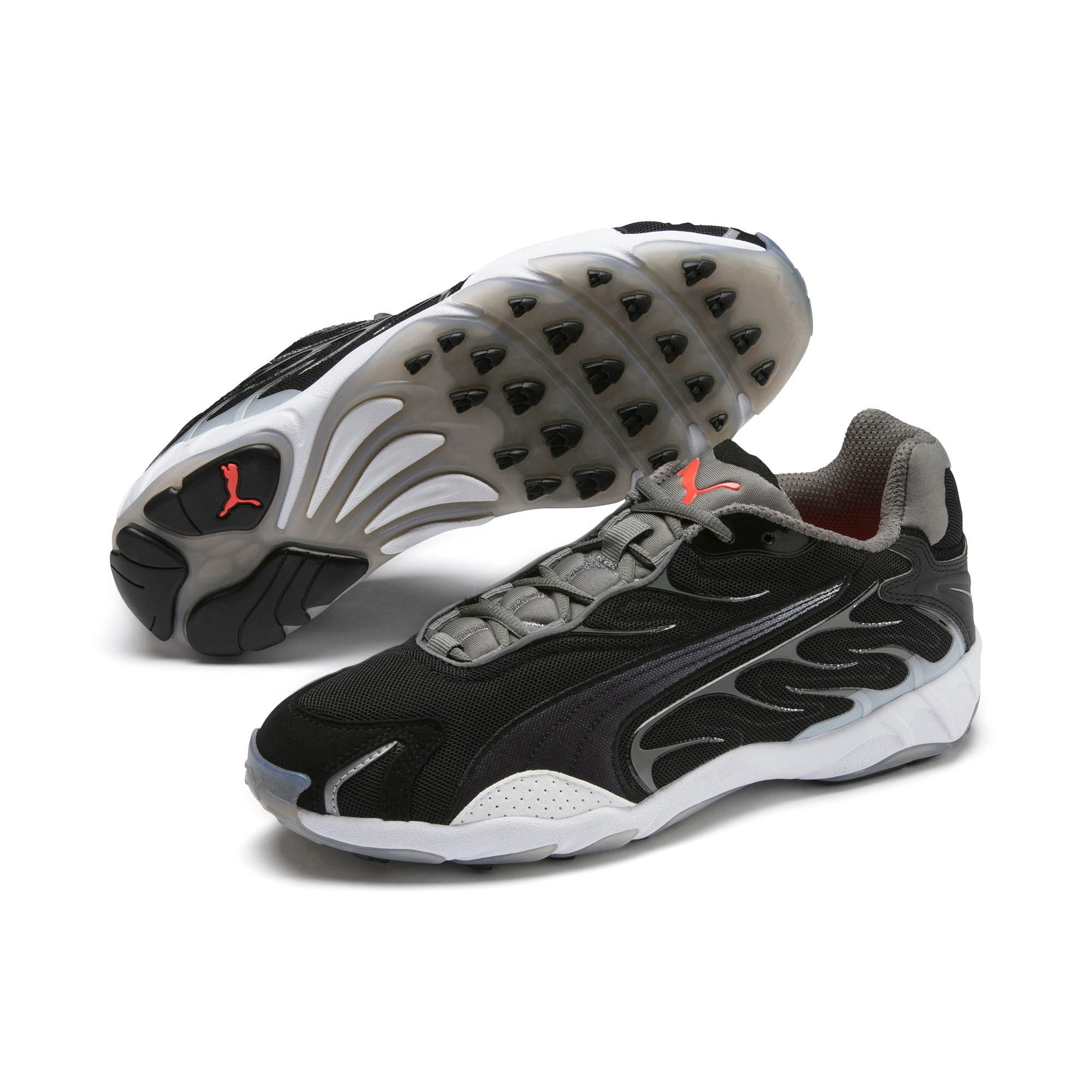 Thumbnail 3 of Inhale Flares Trainers, Puma Black-Puma White, medium