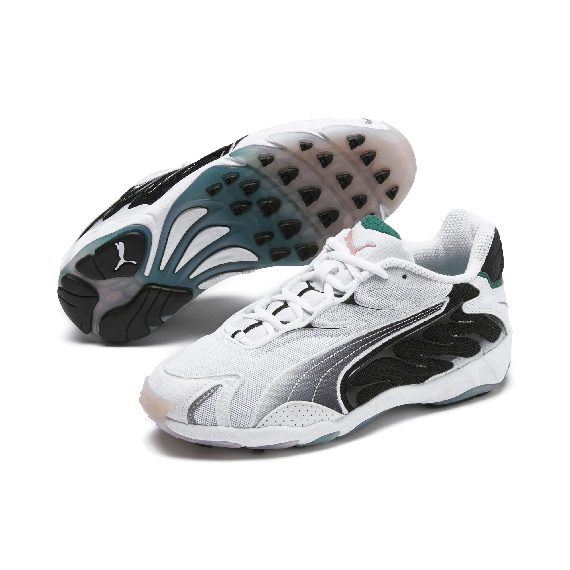 Thumbnail 3 of Inhale Flares Trainers, Puma White-Puma Black, medium