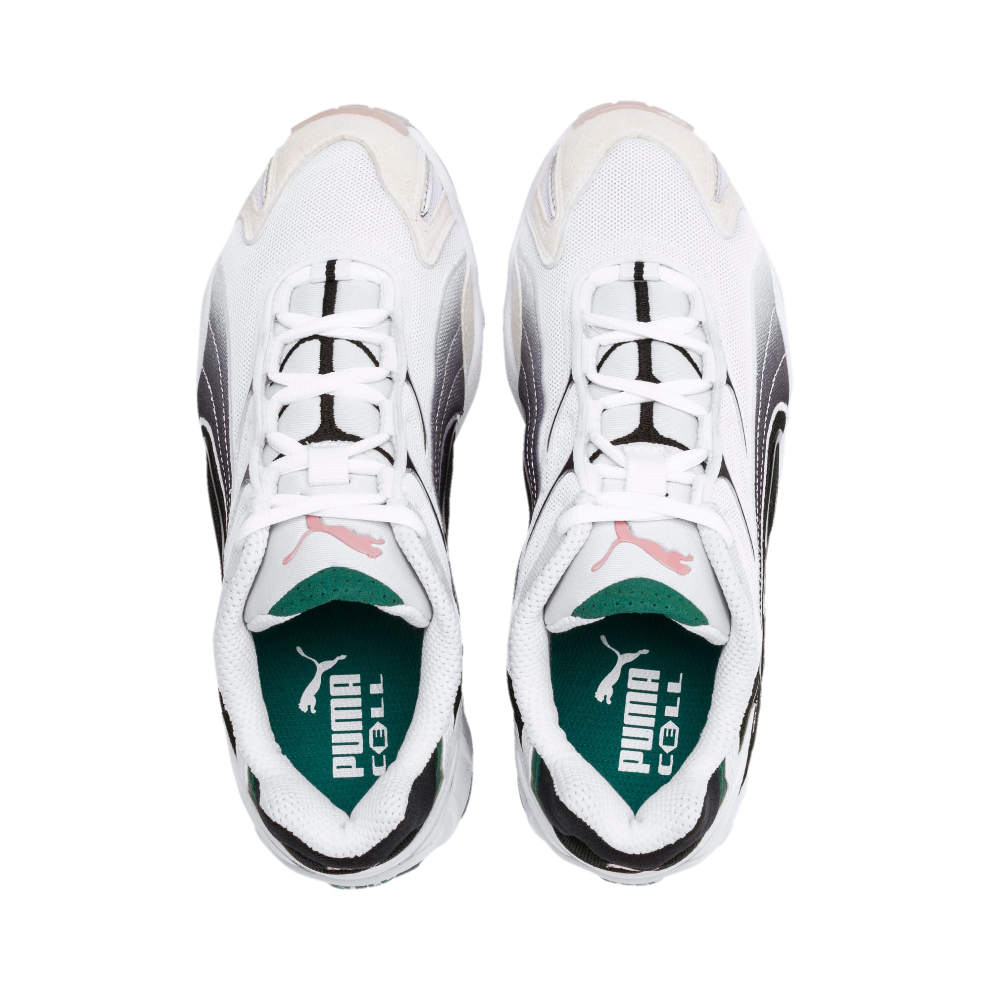 Inhale Flares Sneakers, Puma White-Puma Black, large