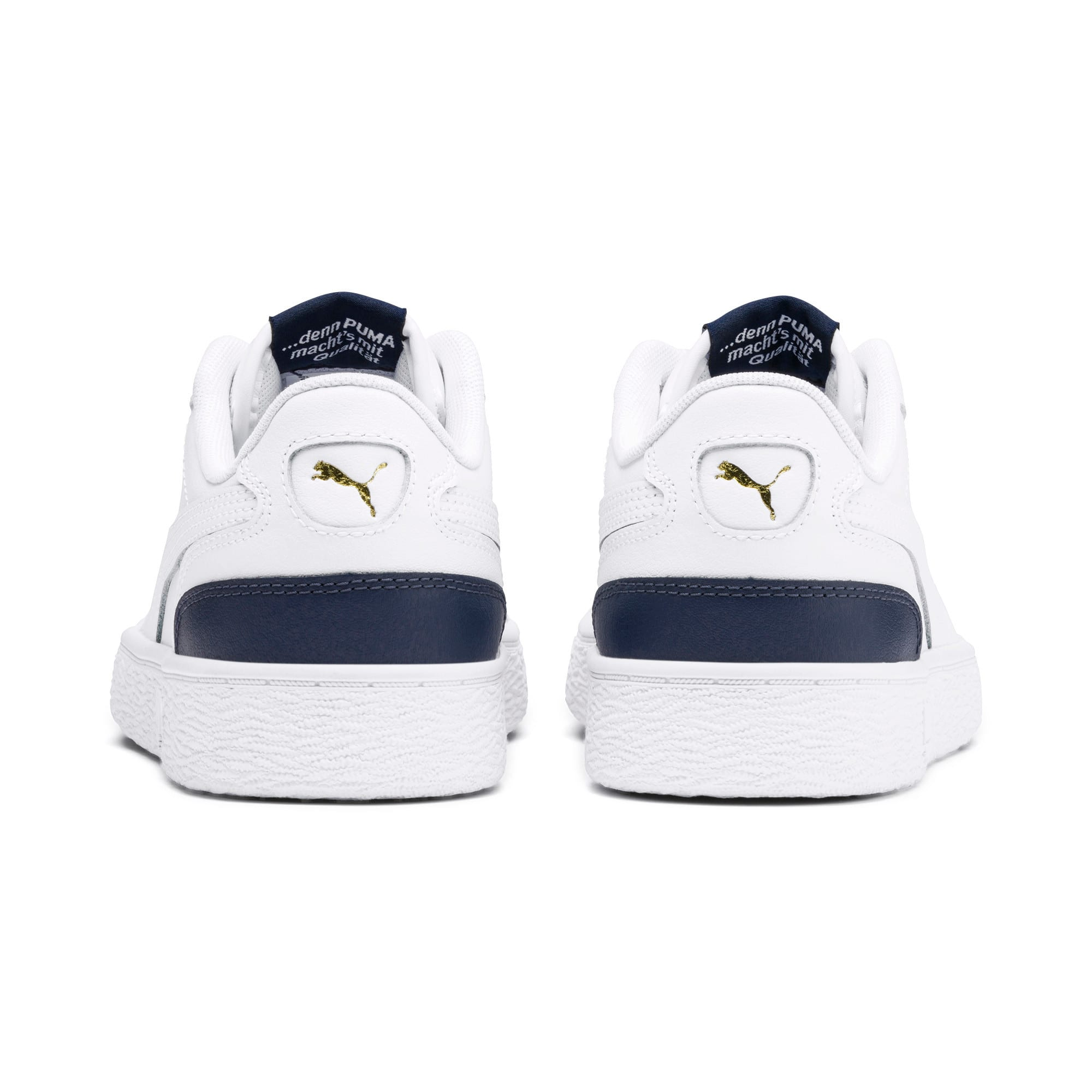 Thumbnail 3 of Ralph Sampson Lo Youth Trainers, White-Peacoat-White, medium