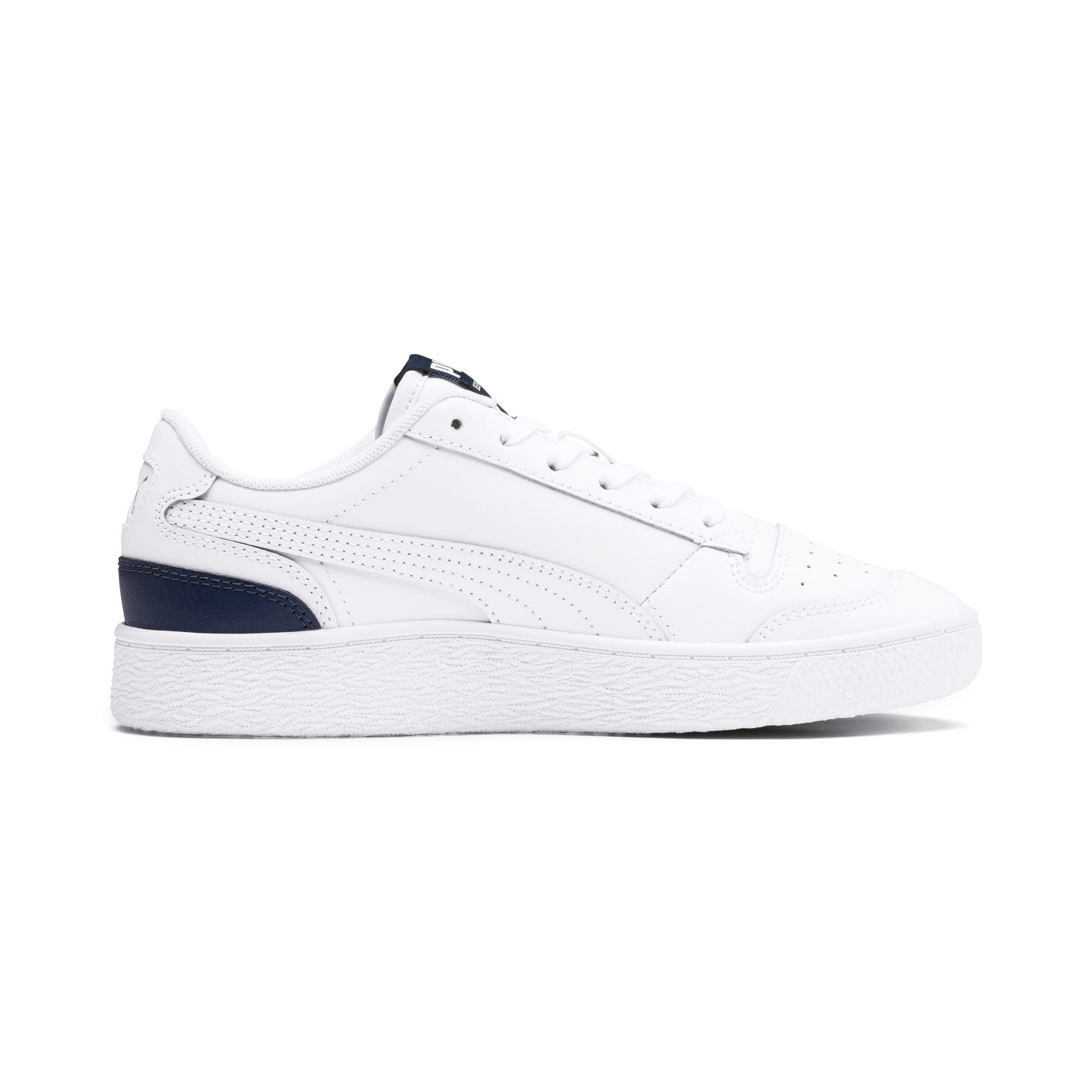 Thumbnail 5 of Ralph Sampson Lo Youth Trainers, White-Peacoat-White, medium
