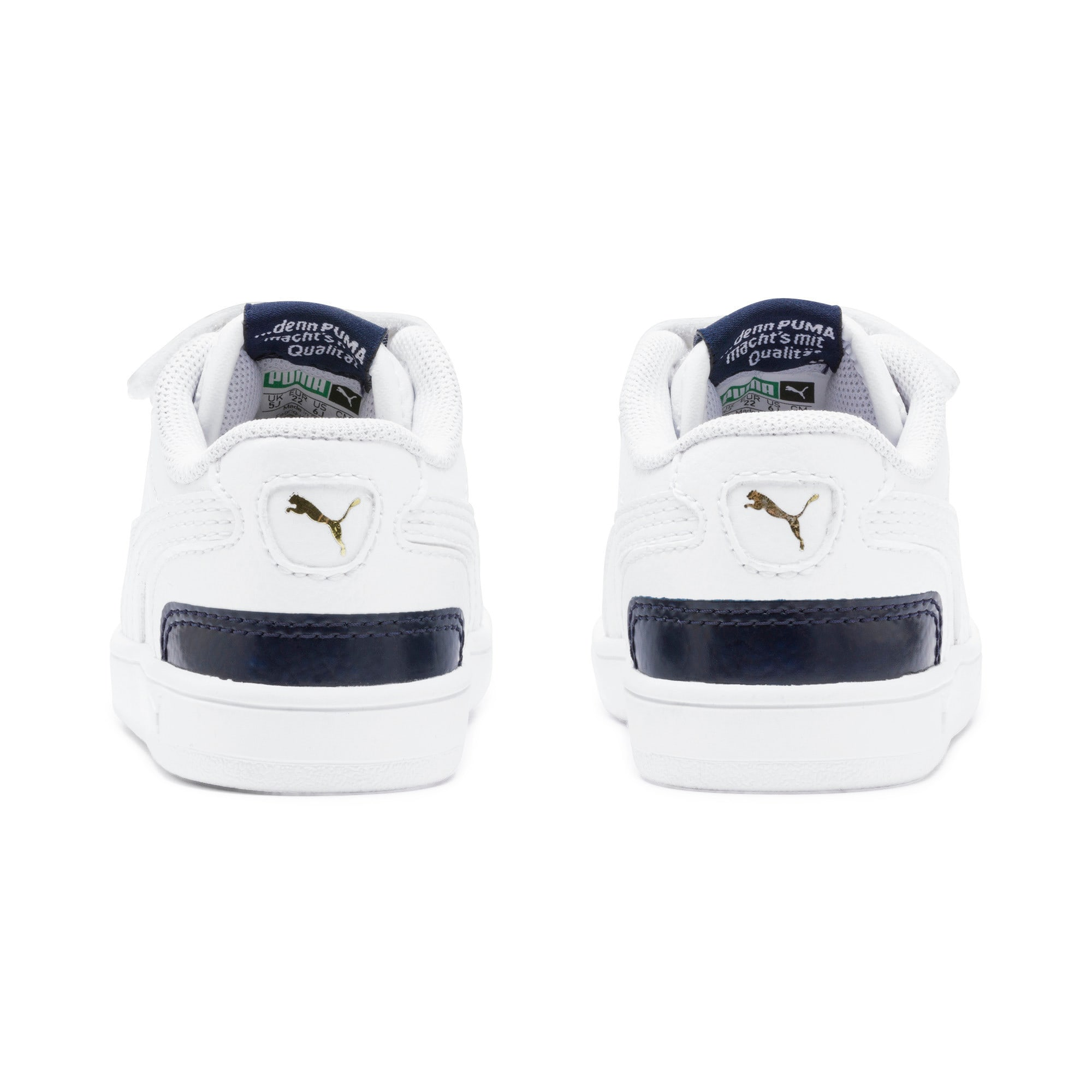 Thumbnail 3 of Ralph Sampson Lo V Babies' Trainers, White-Peacoat-White, medium
