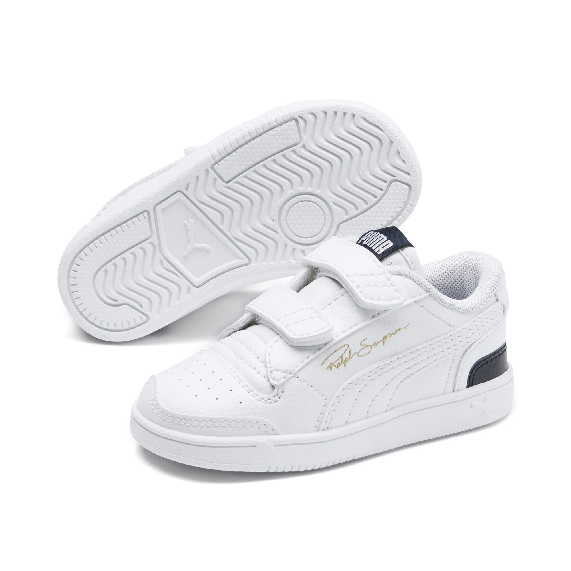 Thumbnail 2 of Ralph Sampson Lo V Babies' Trainers, White-Peacoat-White, medium