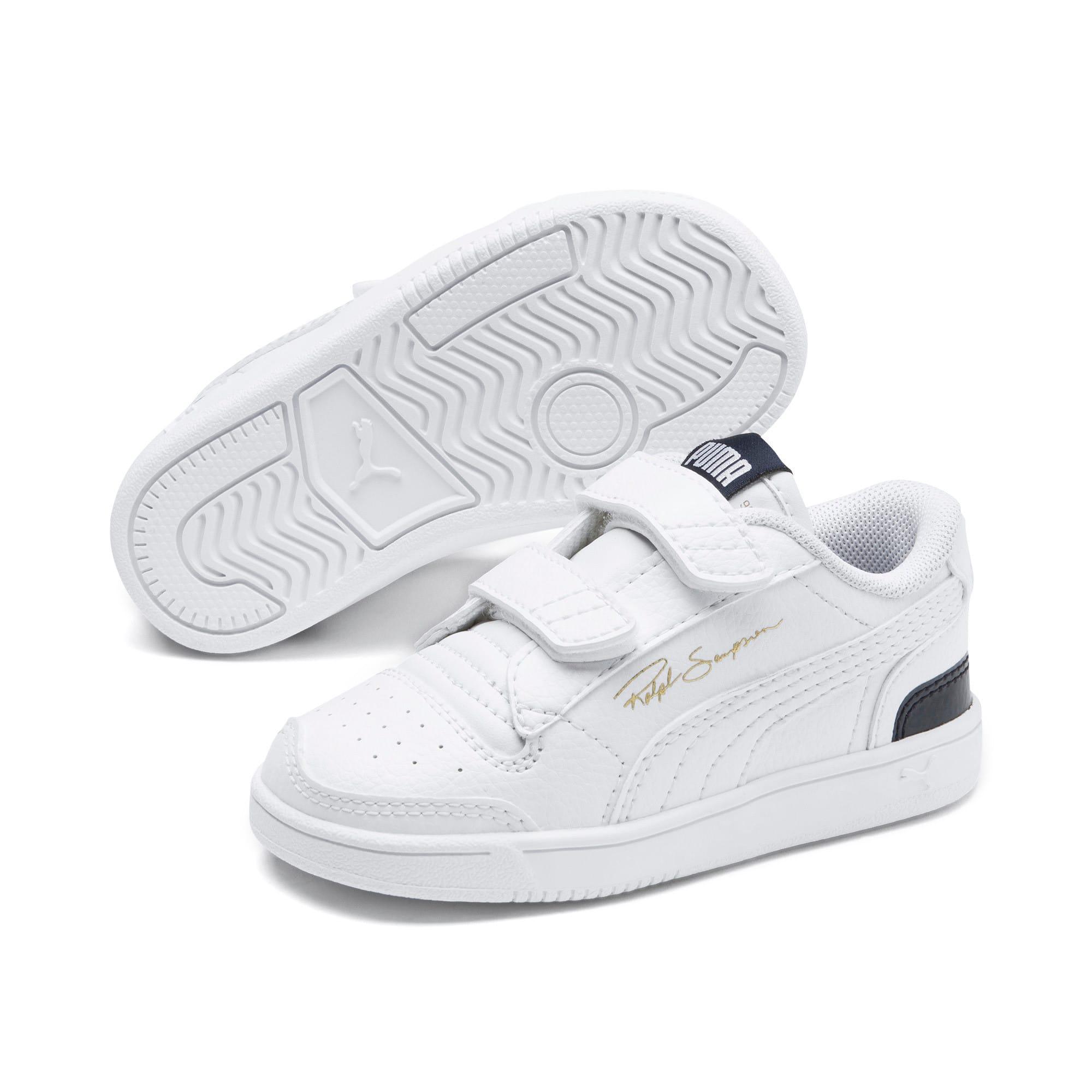 Thumbnail 2 of Ralph Sampson Low AC Toddler Shoes, White-Peacoat-White, medium