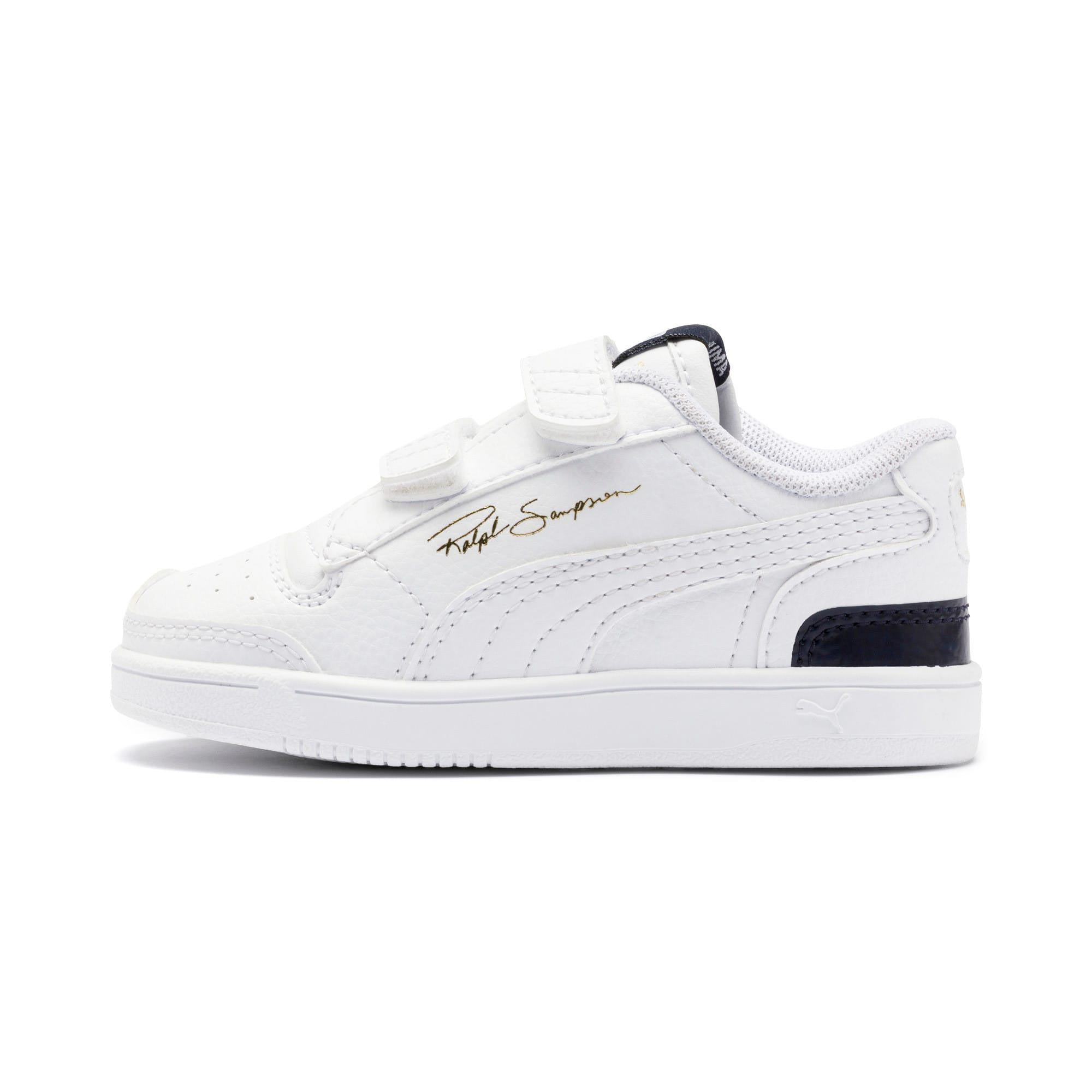Thumbnail 1 of Ralph Sampson Lo V Babies' Trainers, White-Peacoat-White, medium