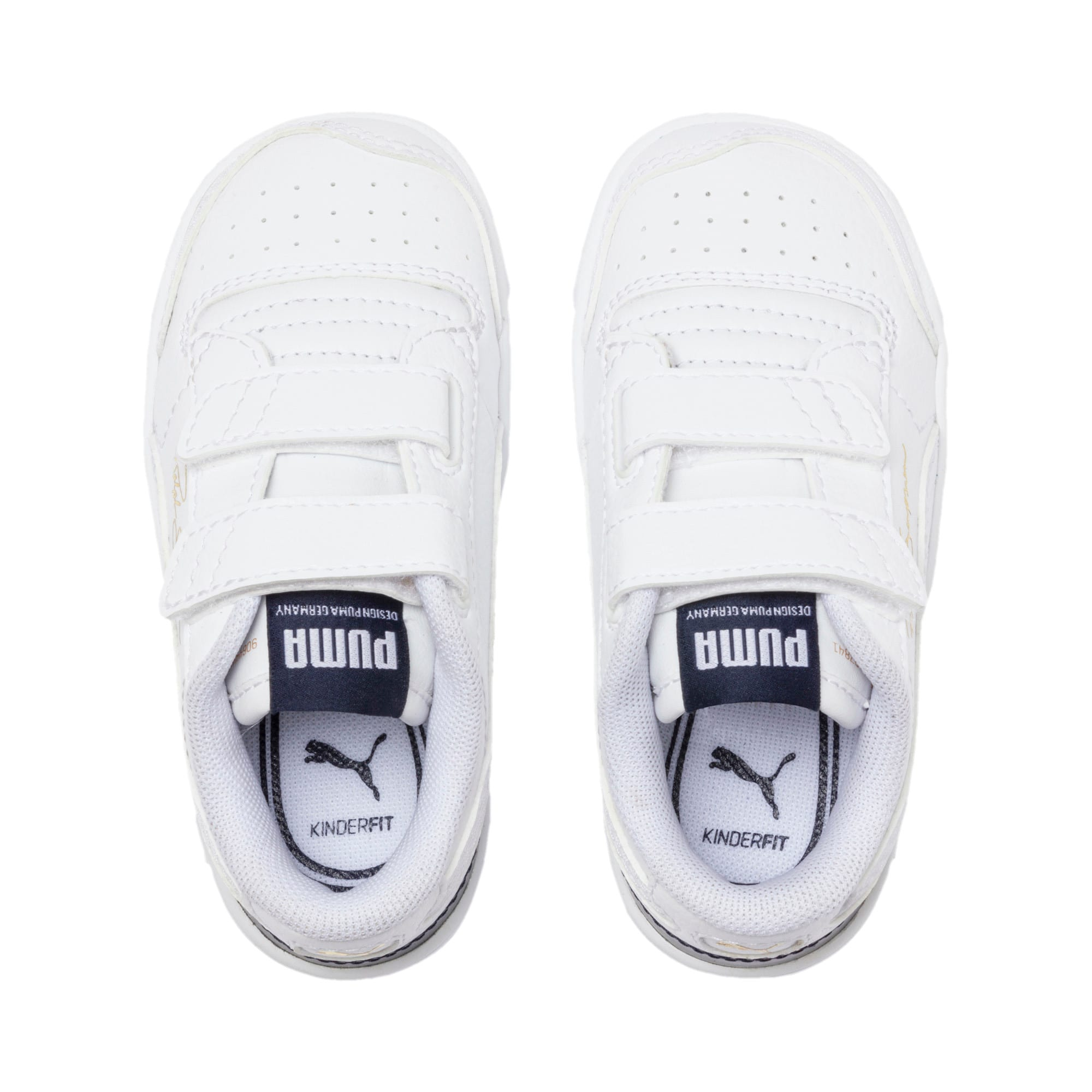 Thumbnail 6 of Ralph Sampson Lo V Babies' Trainers, White-Peacoat-White, medium