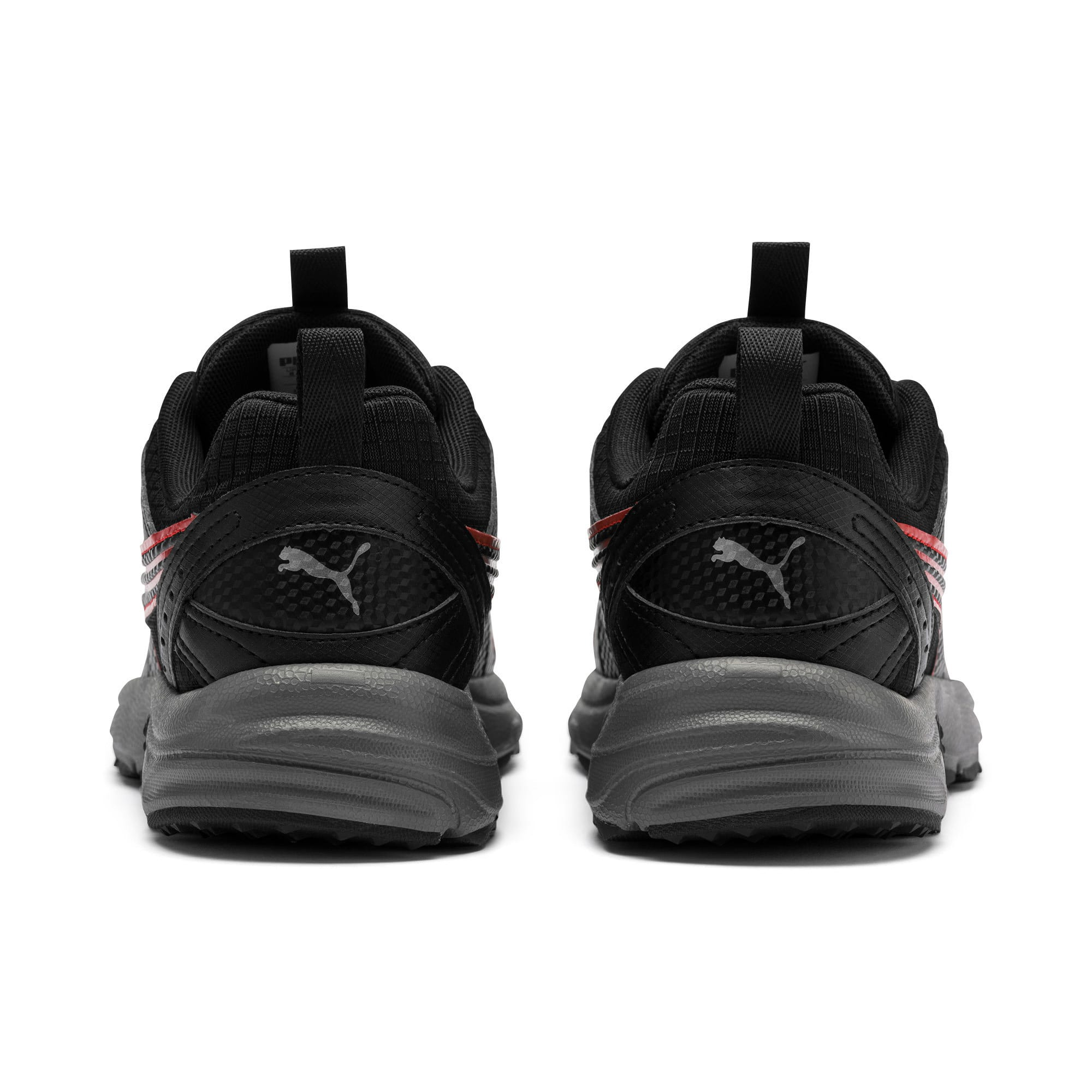 Thumbnail 4 of Axis Trail Sneakers, Black-High Risk Red-Silver, medium
