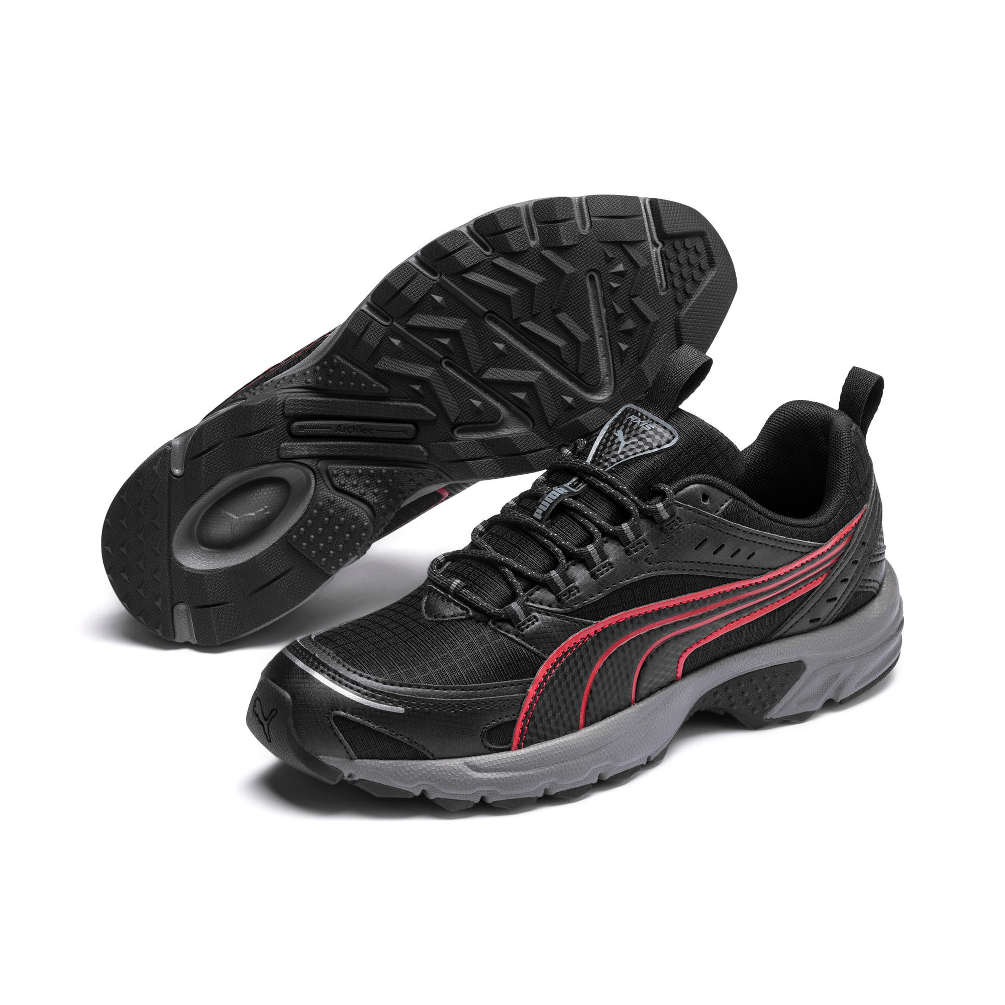Thumbnail 3 of Axis Trail Sneakers, Black-High Risk Red-Silver, medium